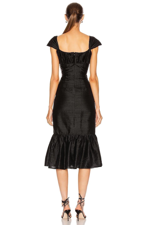 MARKARIAN Mondella Ruched Flounce Dress