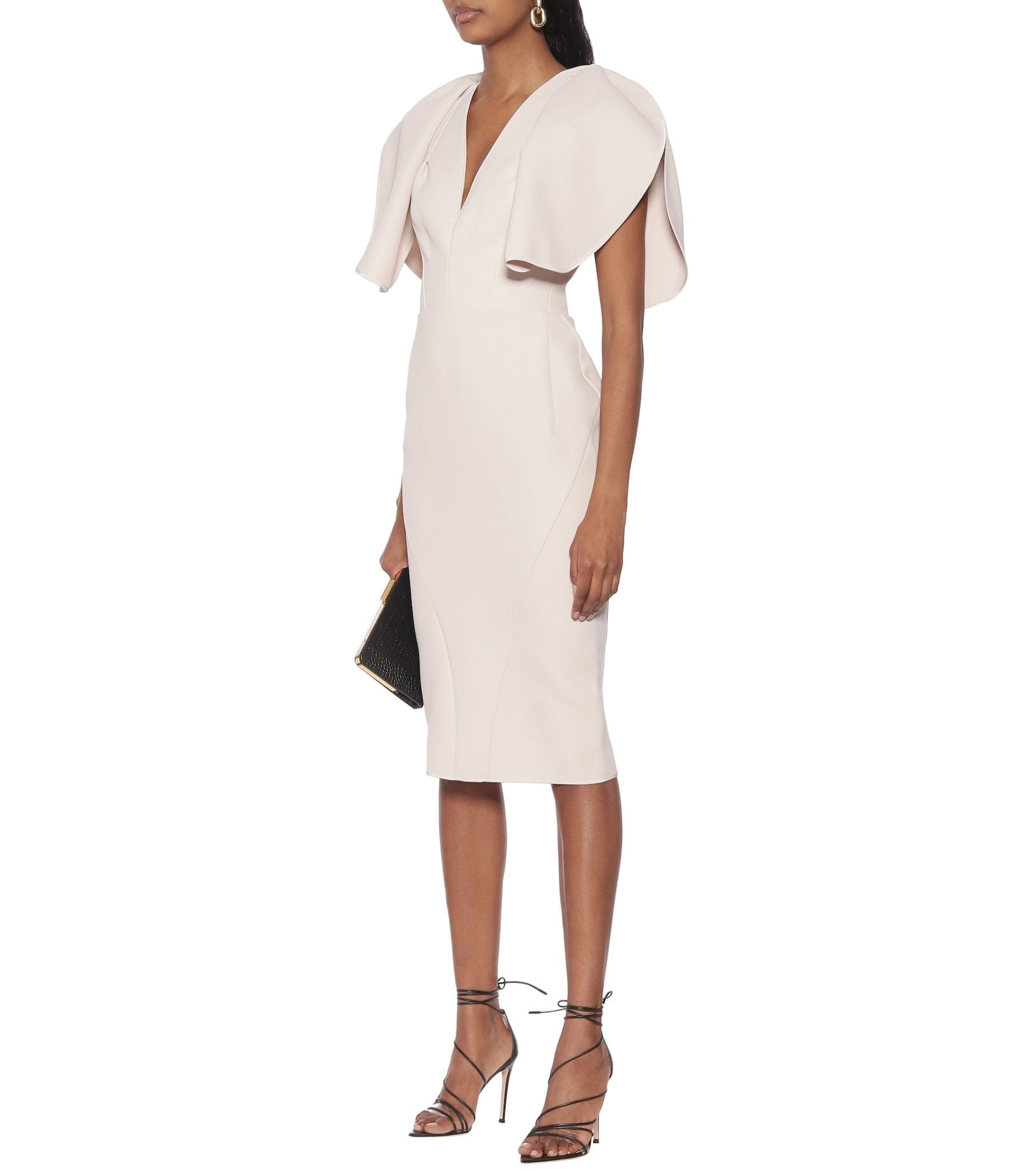 MATICEVSKI Vowed Plunge Crêpe Midi Dress