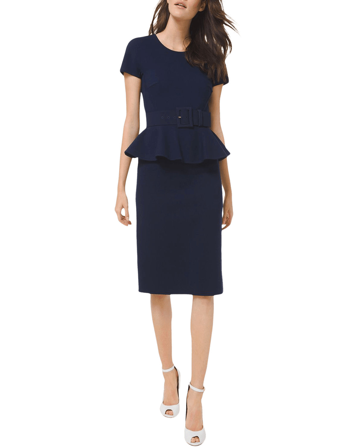 MICHAEL KORS COLLECTION Double-Faced Peplum Sheath Dress