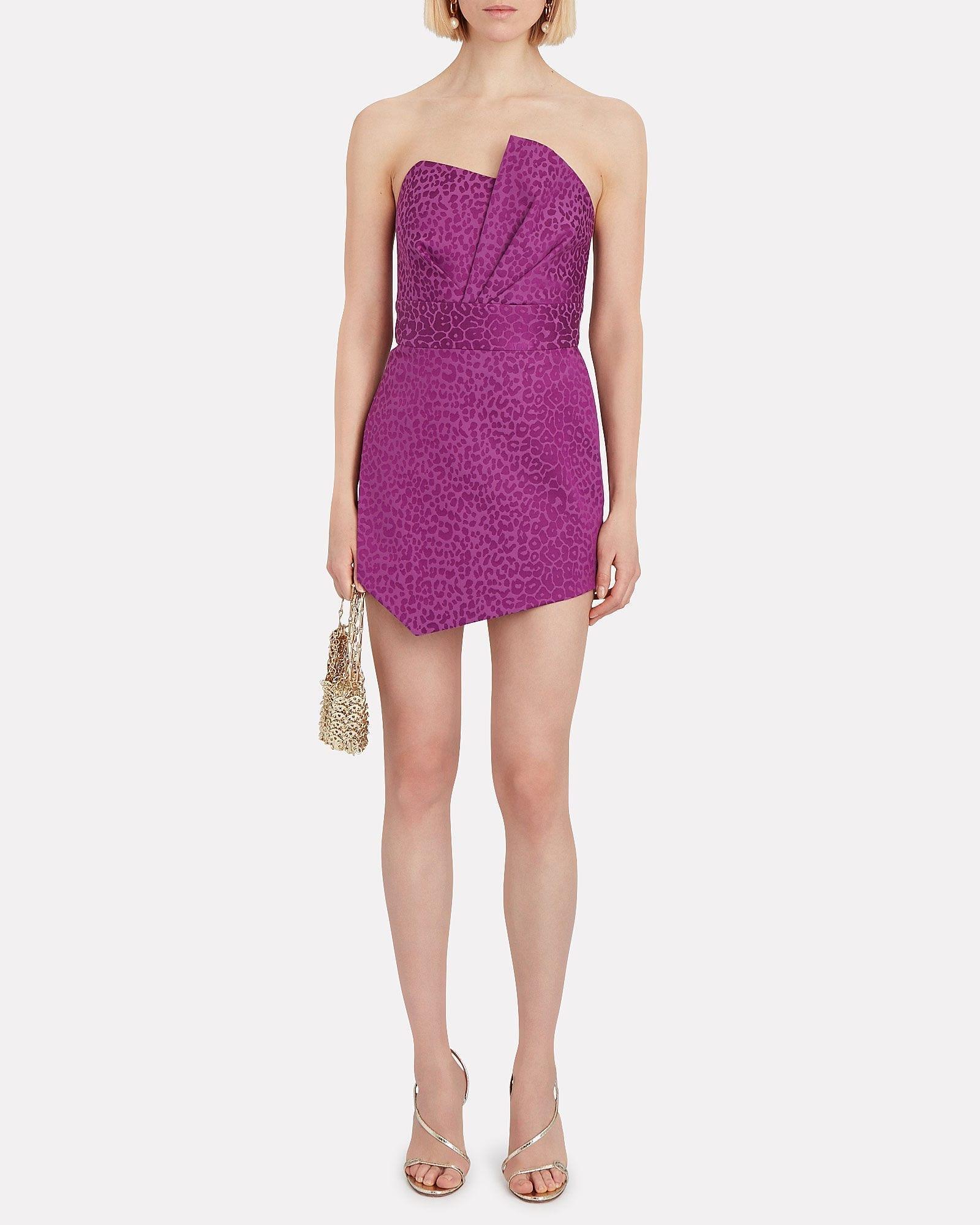 MICHELLE MASON Leopard Jacquard Mini Dress