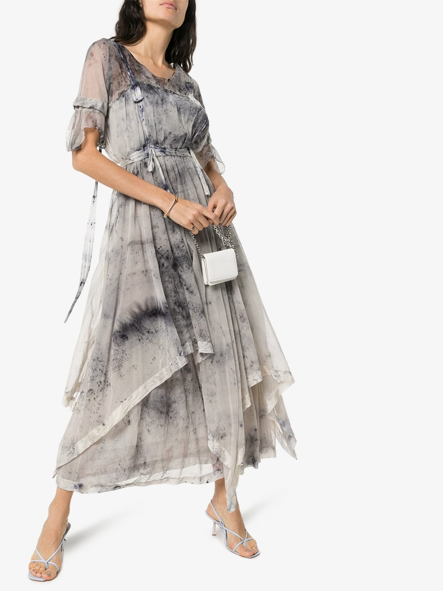 MIMI PROBER Susanna Tie-Dye Cotton Maxi Dress