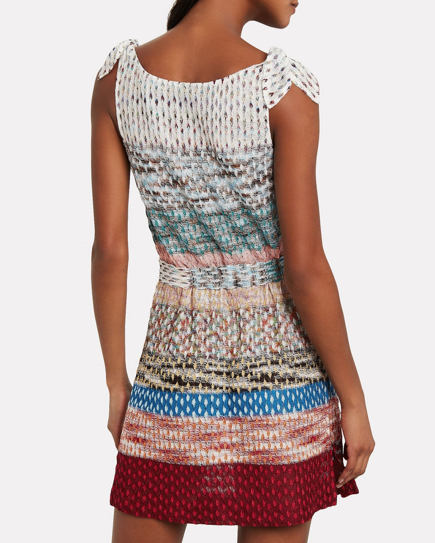 MISSONI MARE Colorblock Knit Tie Waist Dress