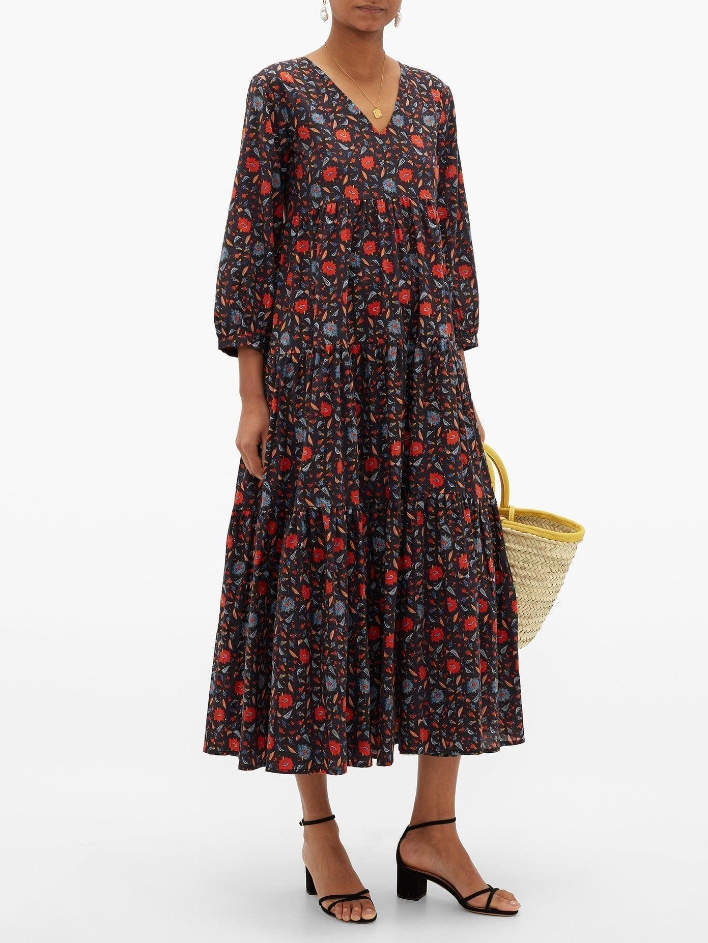 MUZUNGU SISTERS Floral-Print Organic-Cotton Dress