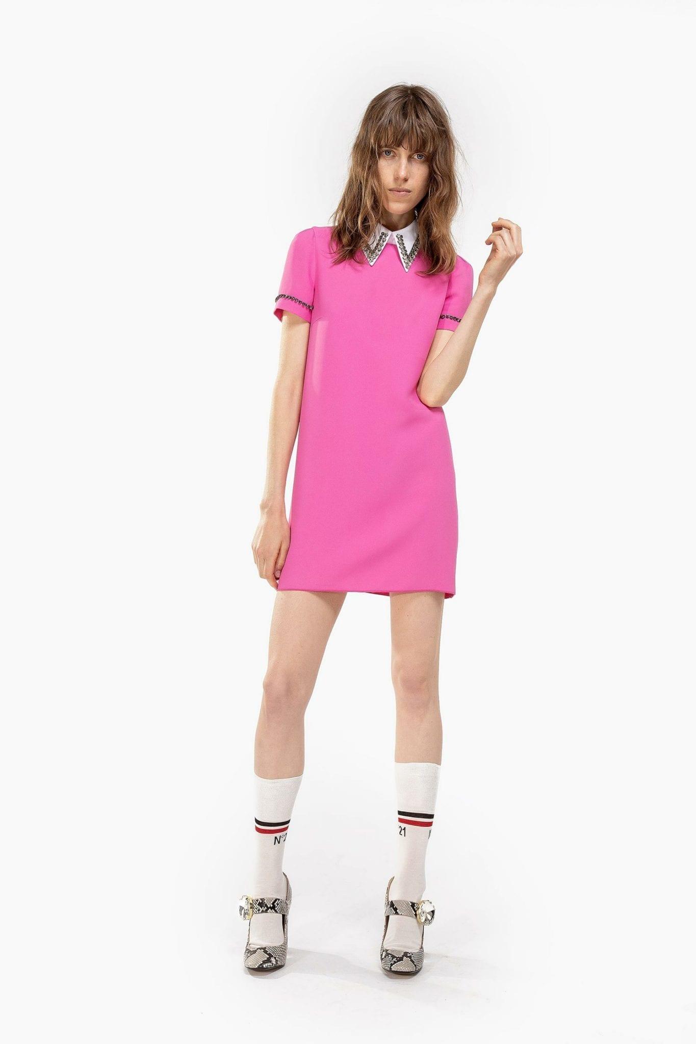N20 Embellished Collar Mini Dress