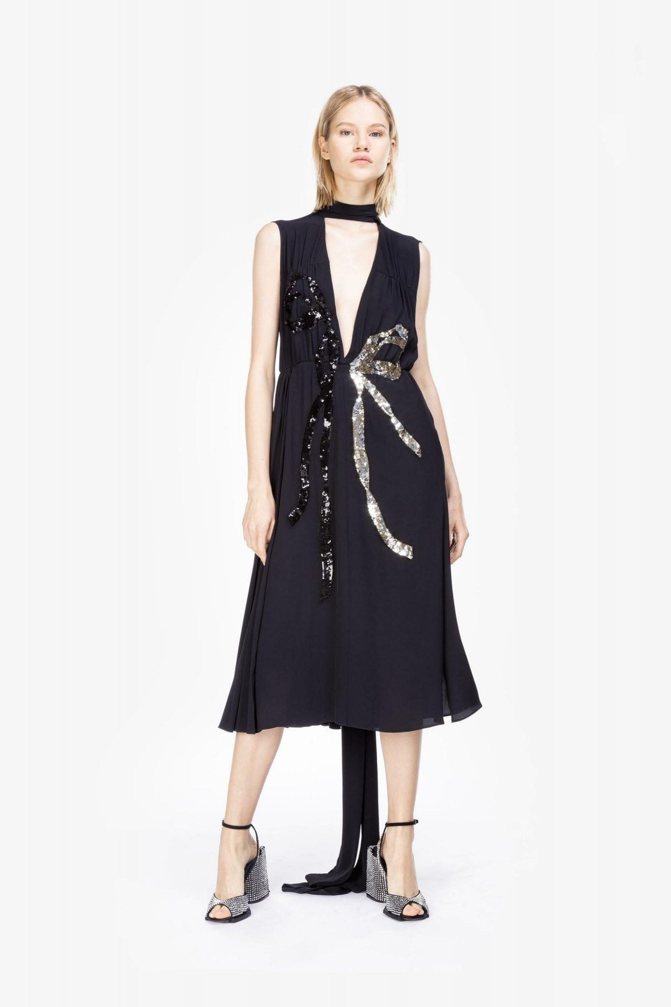N20 Sequin Bow Midi Dress