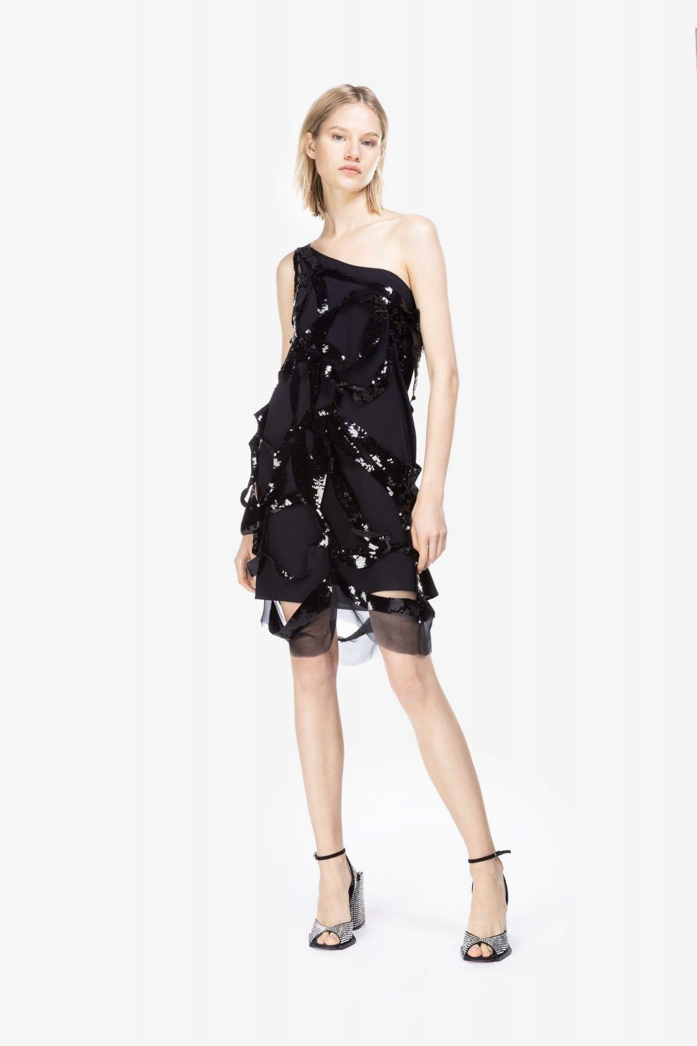 N20 Sequin Bow Ribbon Mini Dress