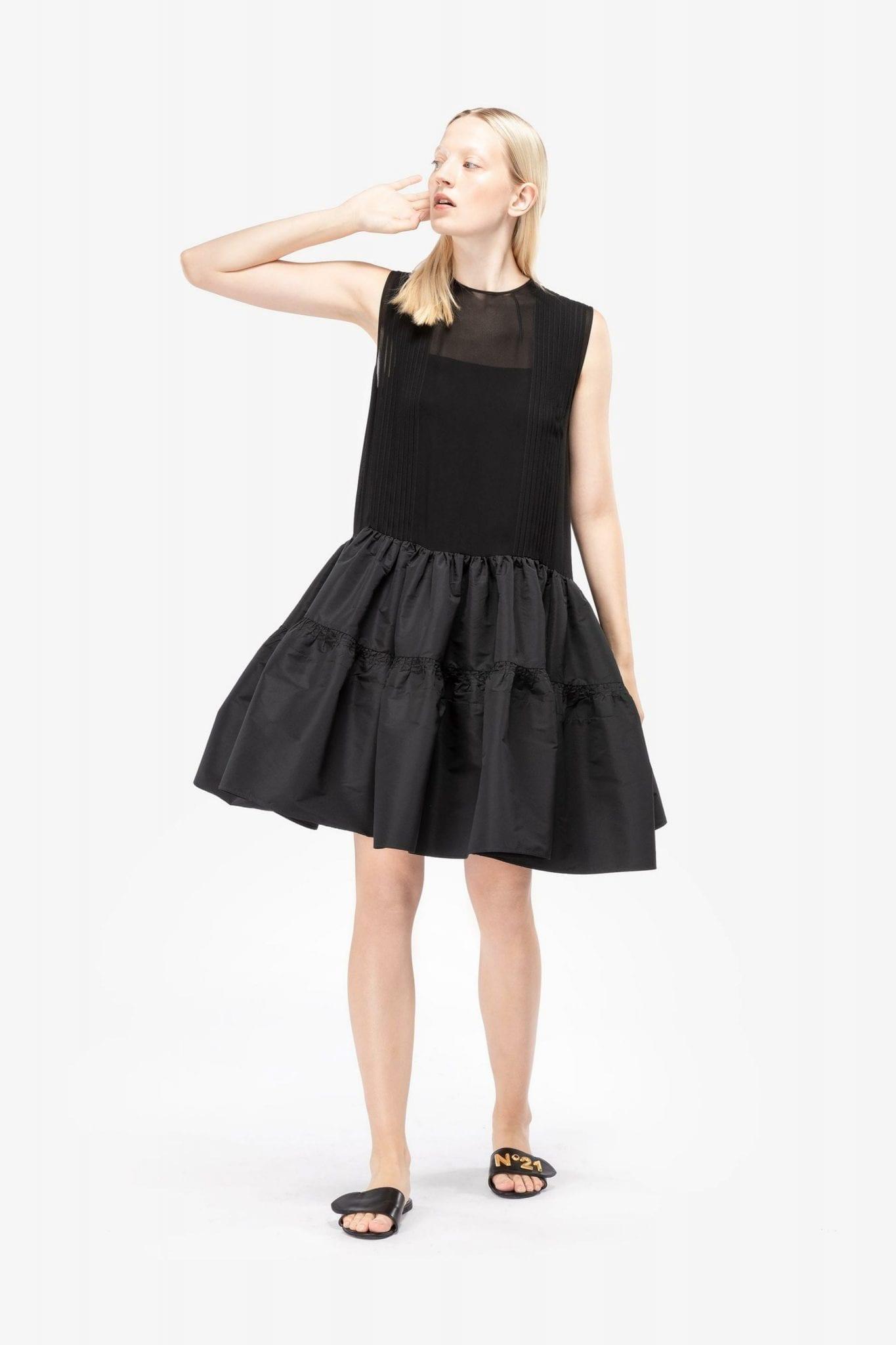 N20 Tiered Drop Waist Mini Dress