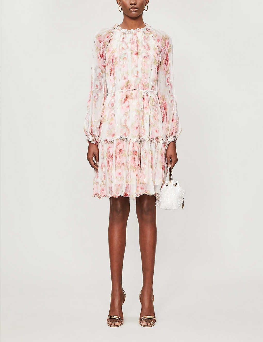 NEEDLE AND THREAD Ruby Bloom Floral-print Crepe Mini Dress