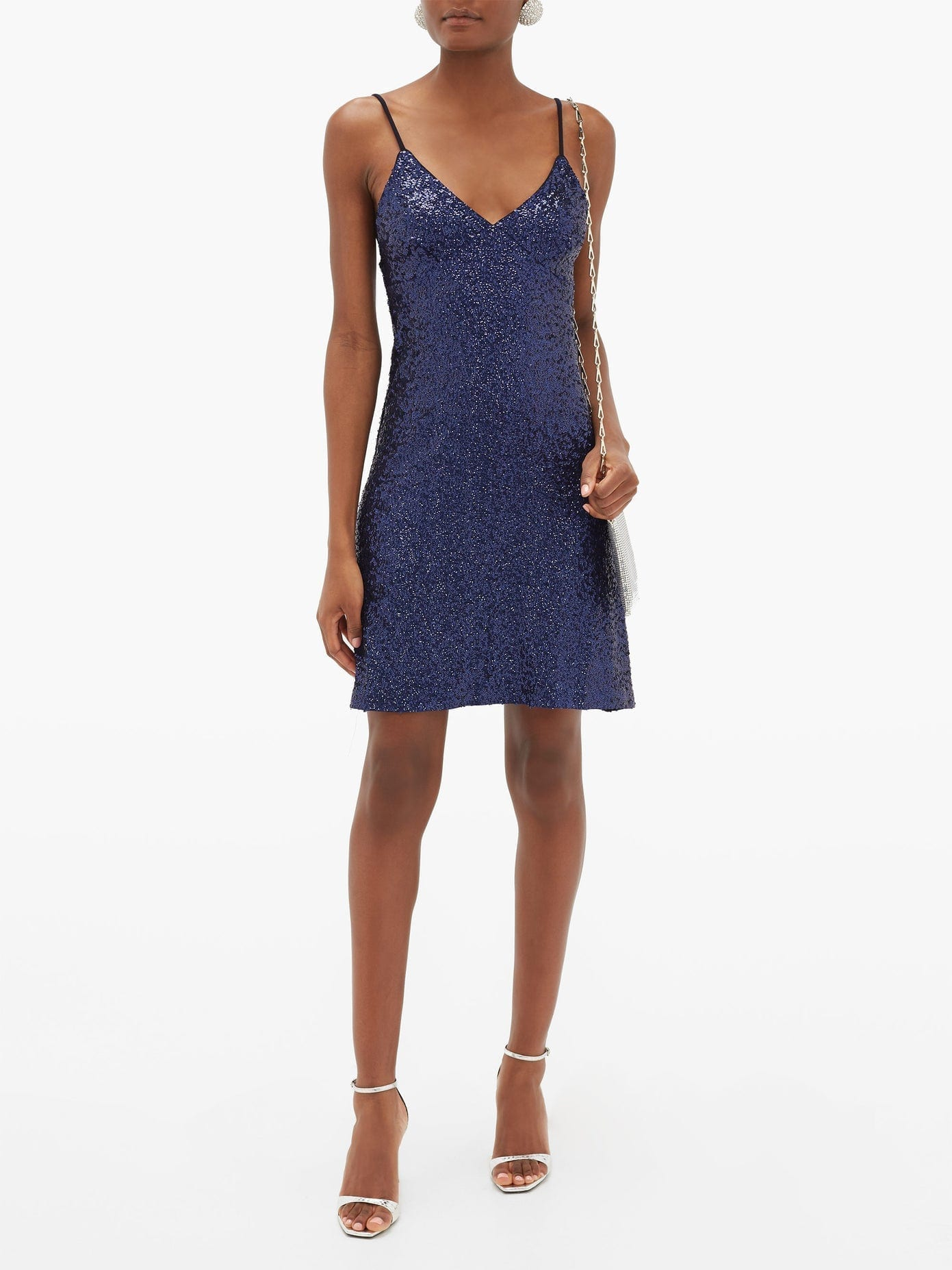 NORMA KAMALI Sequinned Jersey Slip Dress