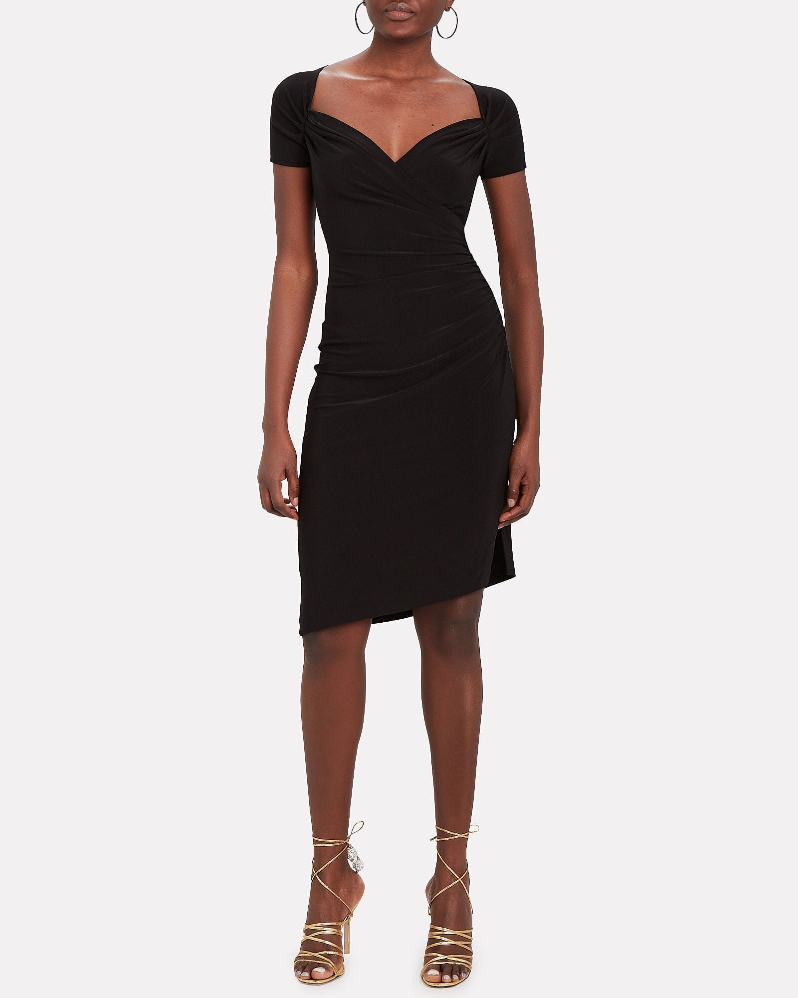 NORMA KAMALI Sweetheart Side Draped Dress