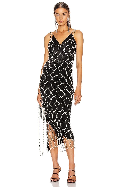 PACO RABANNE Chain Midi Dress