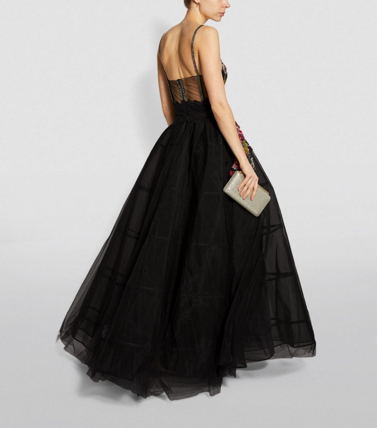 PATBO Detachable Skirt With Beaded Gown