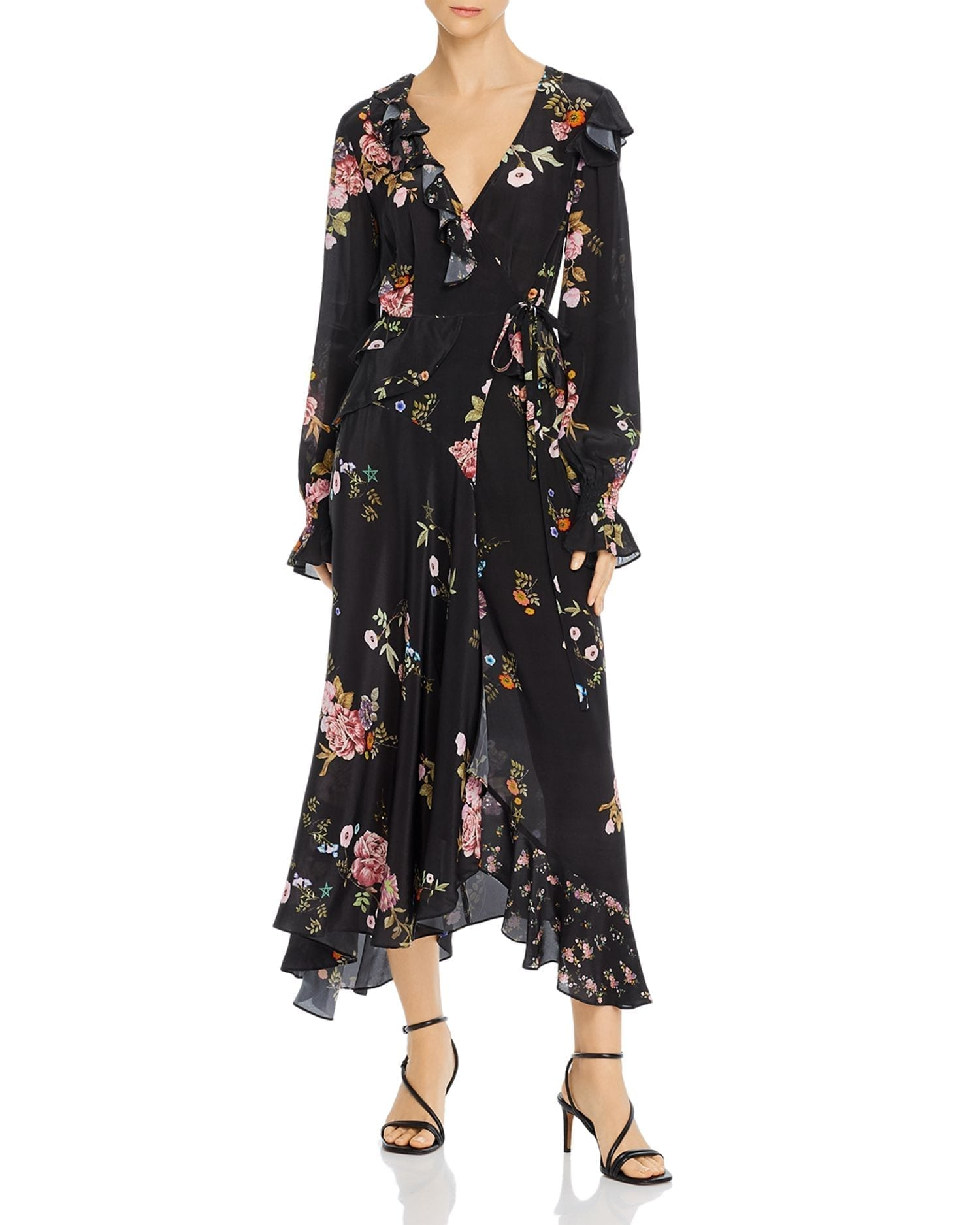 PREEN LINE Eden Asymmetric Midi Wrap Dress