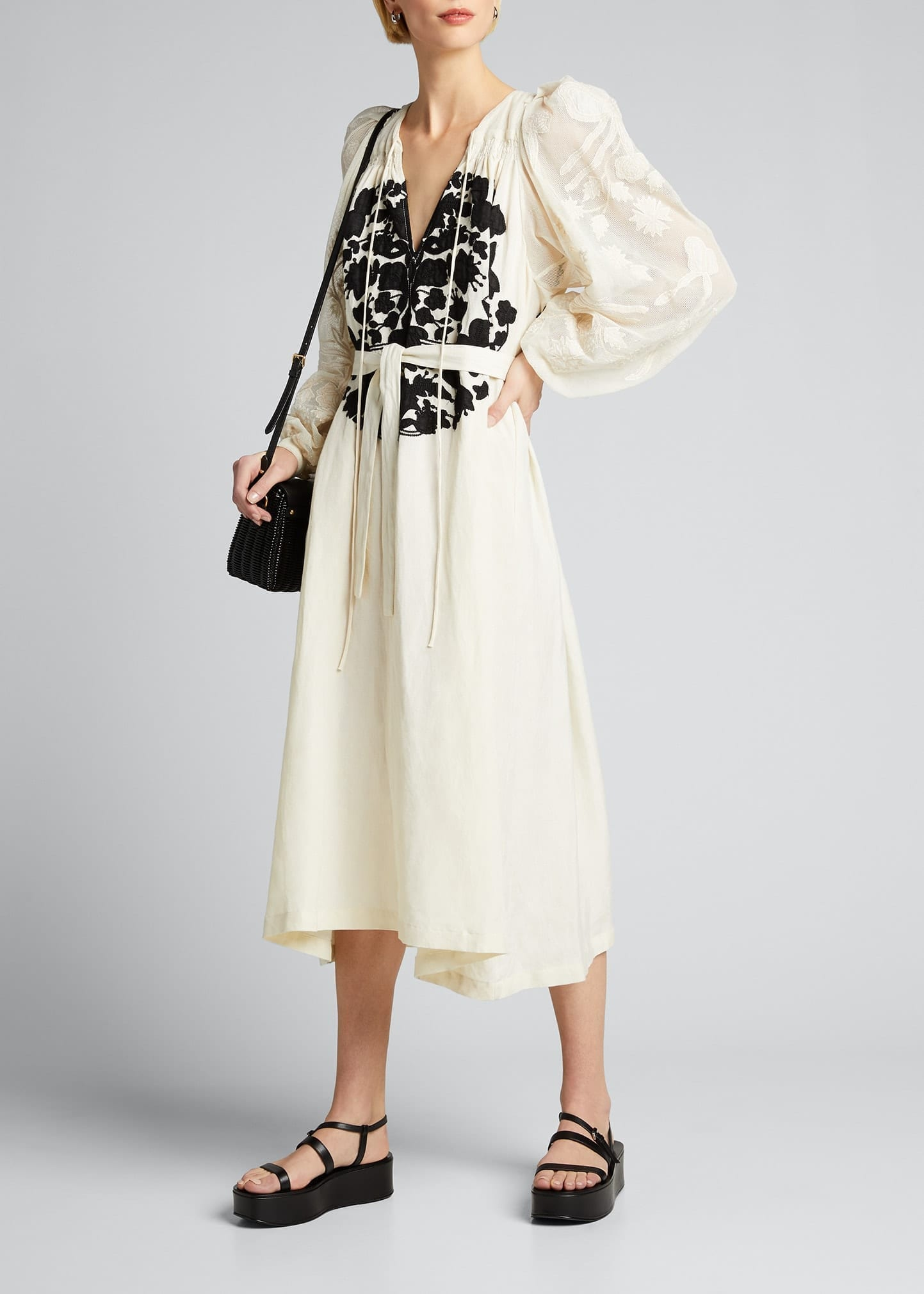 RACHEL COMEY Lars Embroidered Midi Dress