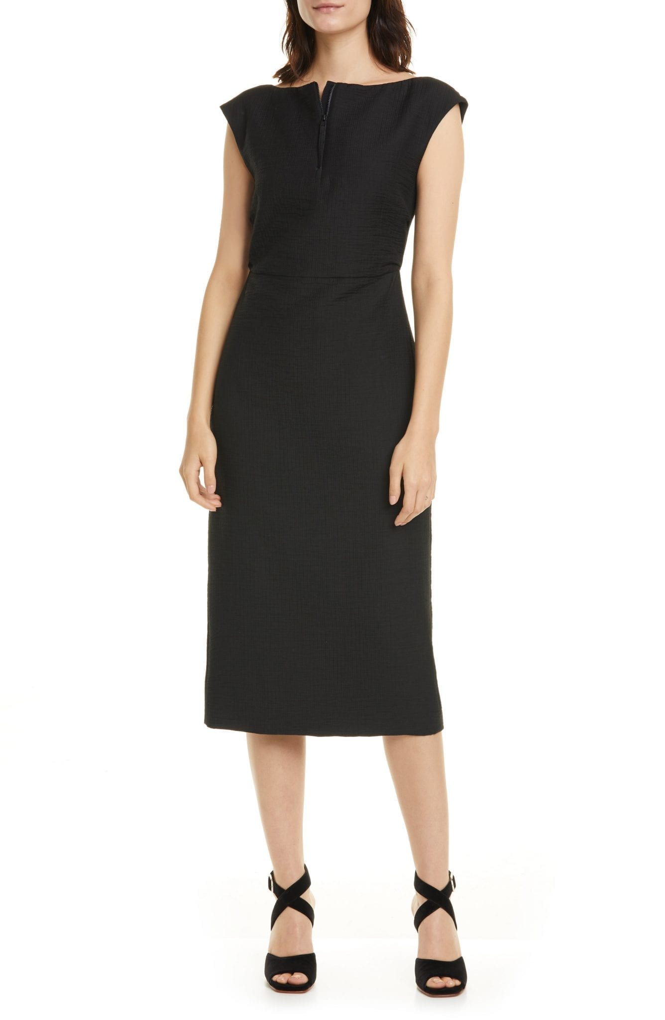 RACHEL COMEY Leonard Quarter Zip Sheath Dress