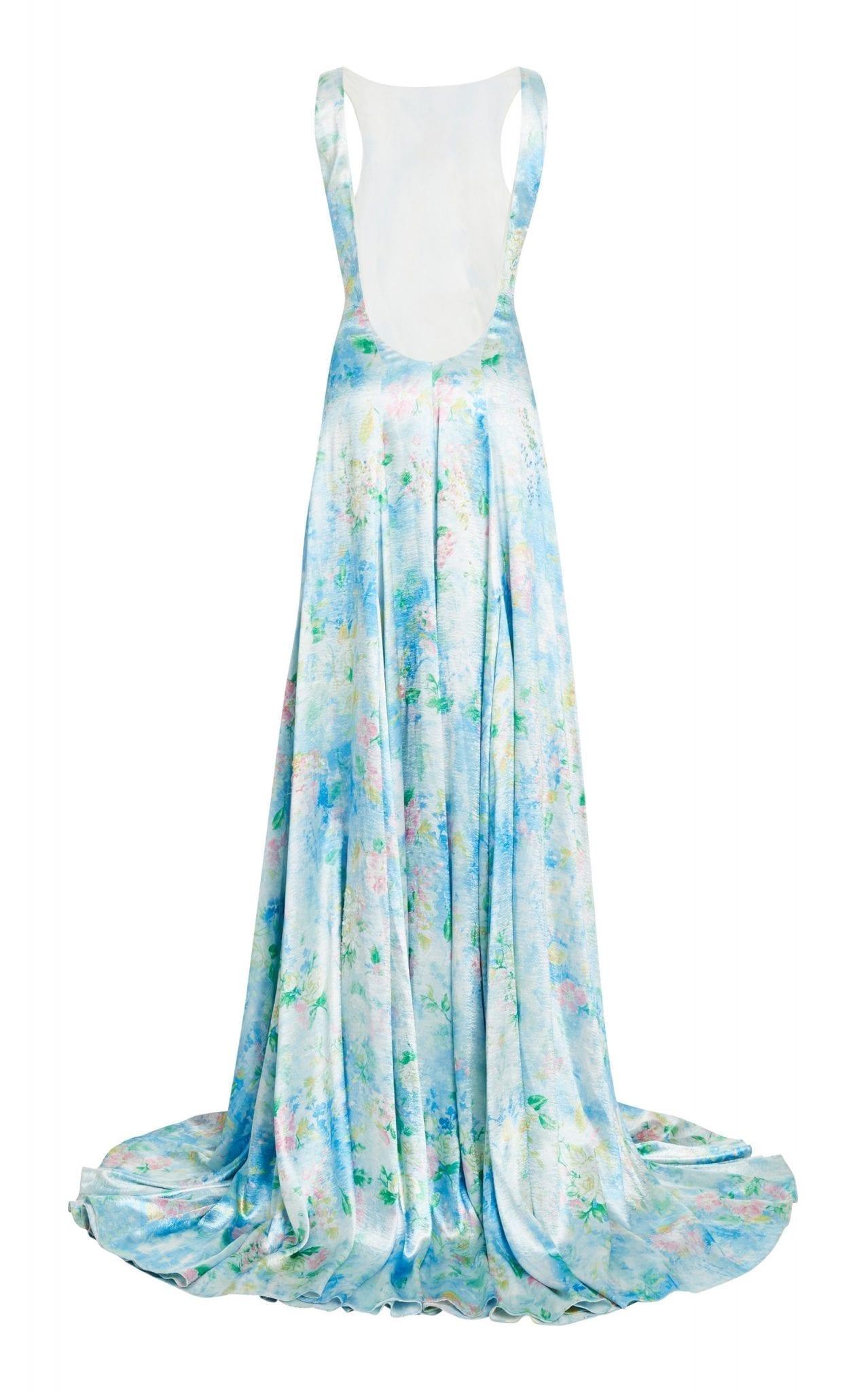 RALPH LAUREN Nancie Floral-Print Crepe Gown