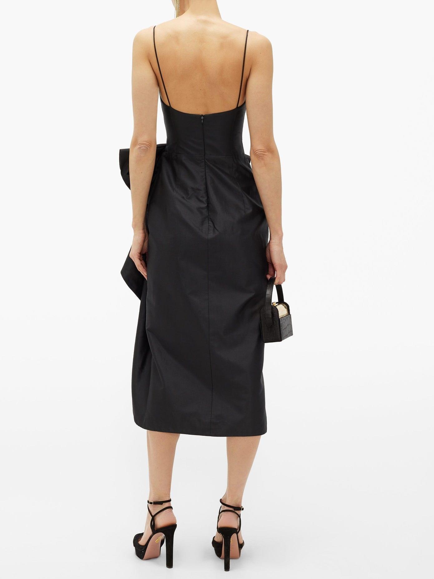 RASARIO Bow-front Satin Dress