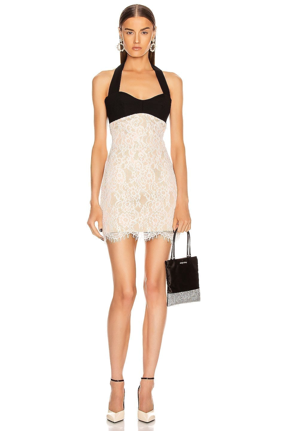RASARIO Lace Mini Dress