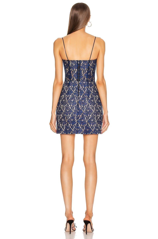 RASARIO for FWRD Lace Corset Mini Dress