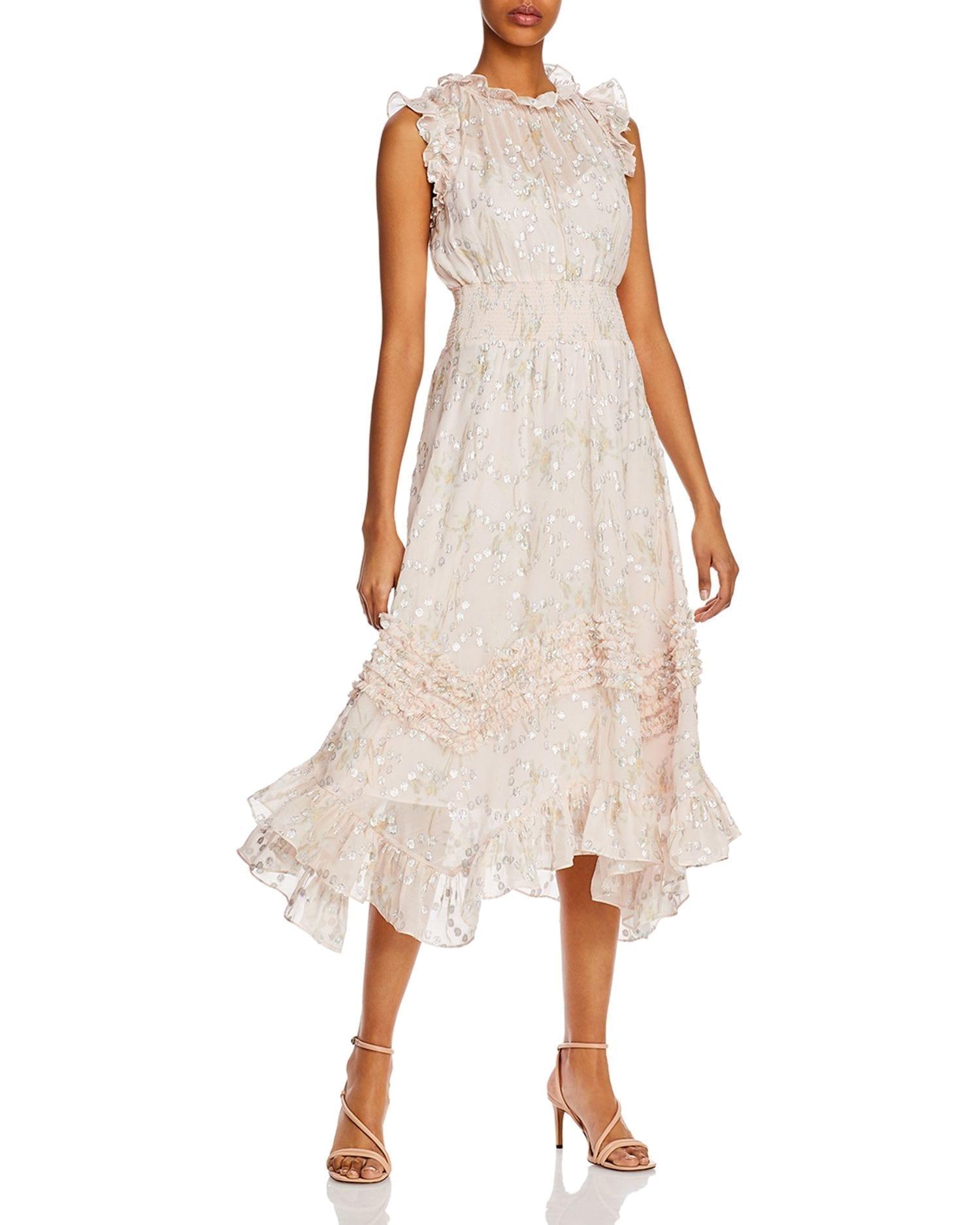 REBECCA TAYLOR Ruffled Smocked Dress