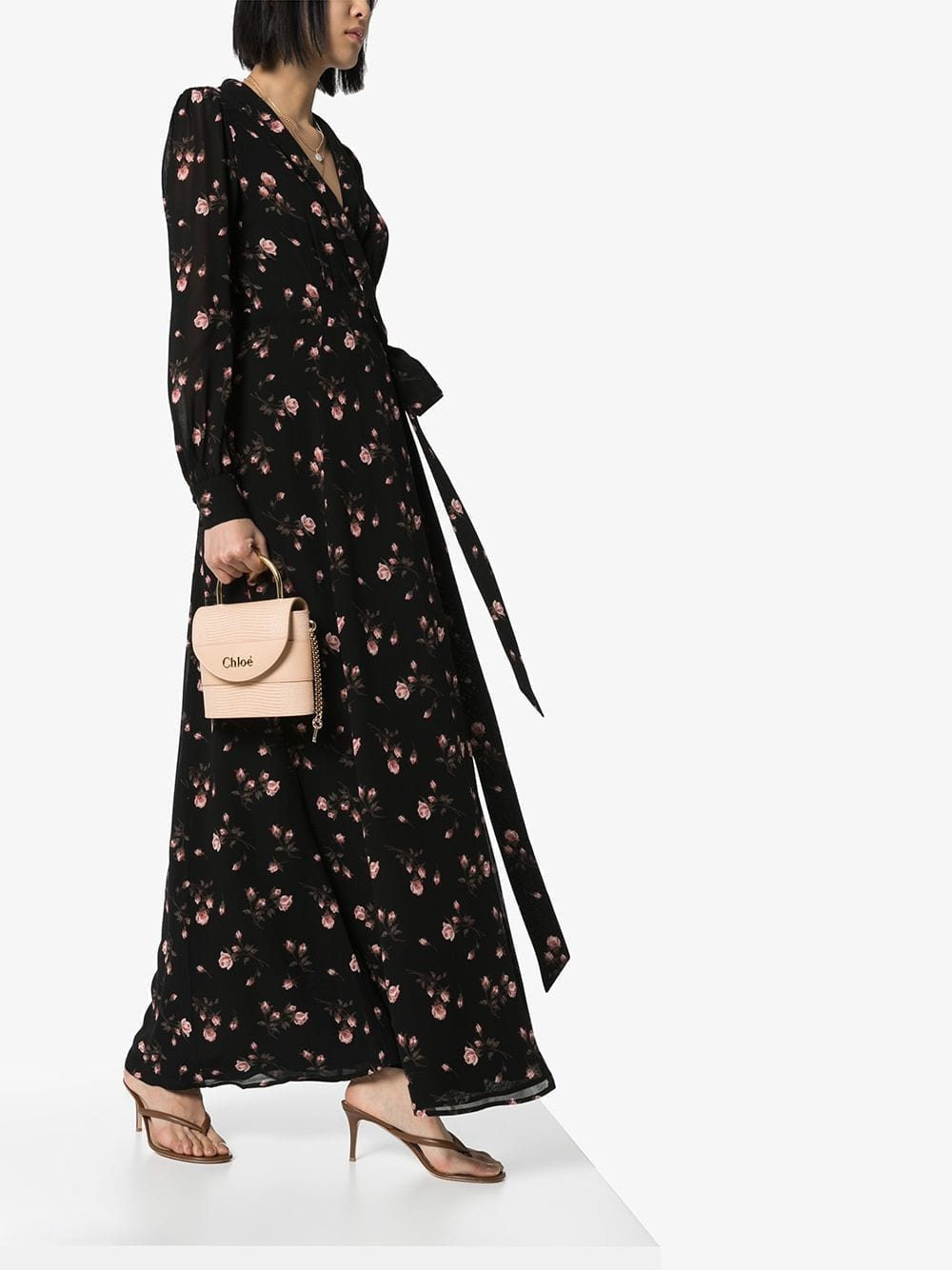REFORMATION Shanti Floral-print Wrap Dress