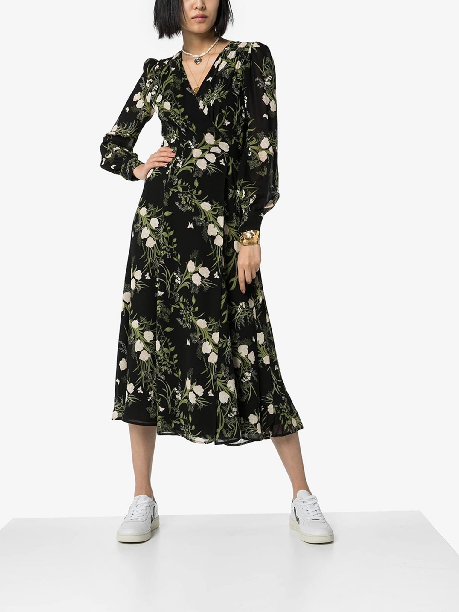 REFORMATION Susanna Midi Wrap Dress