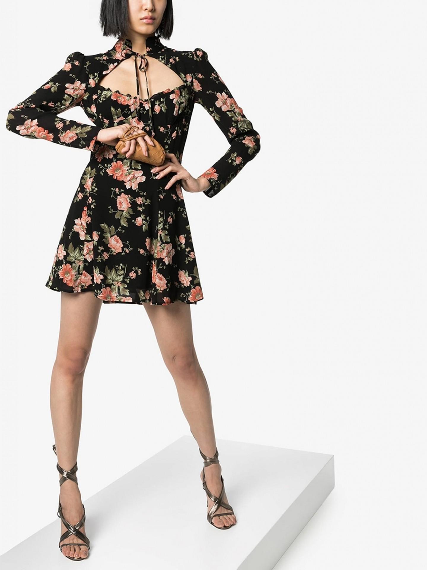 REFORMATION Vivianne Floral Print Mini Dress