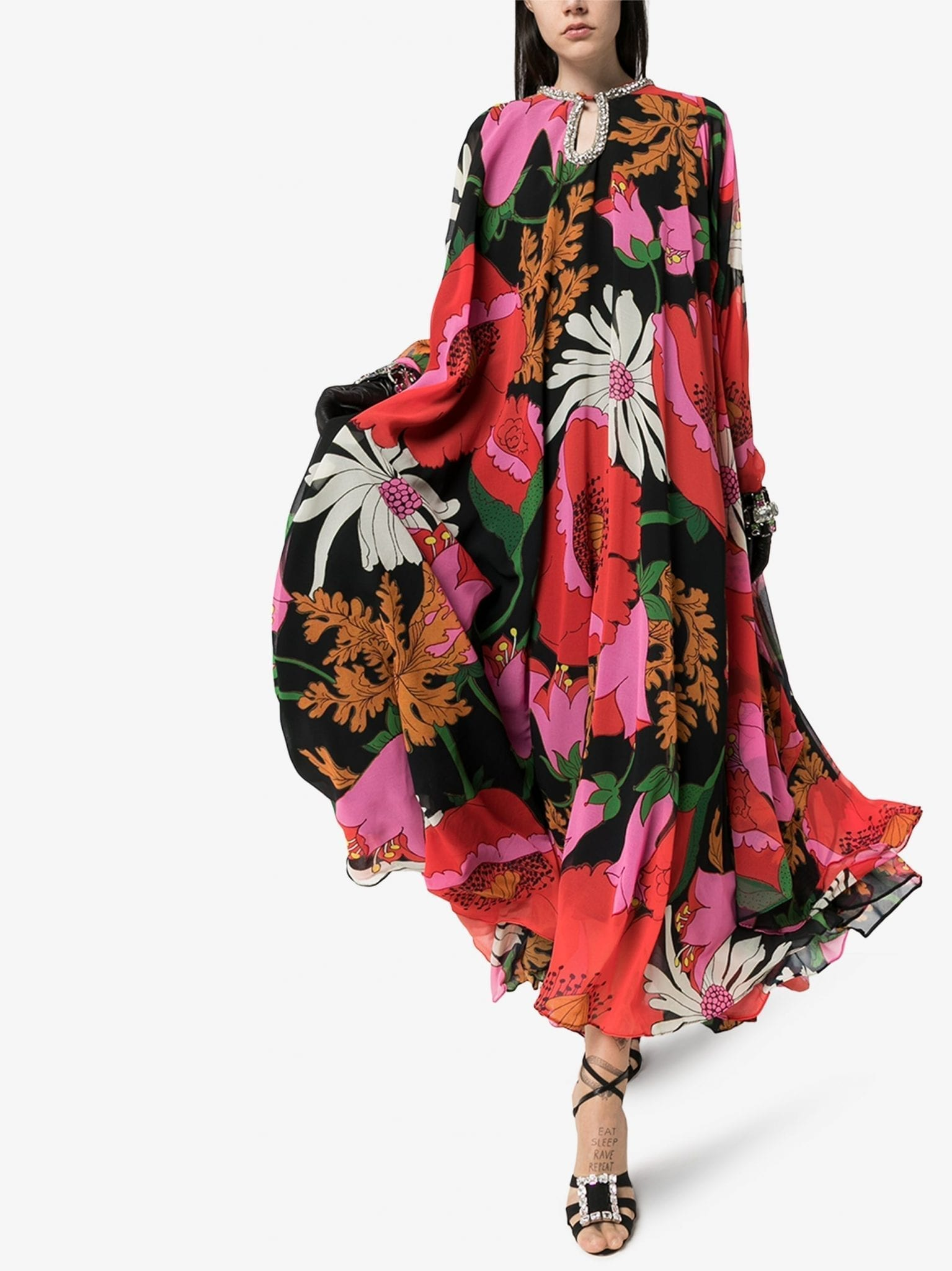 RICHARD QUINN Crystal Floral Maxi Dress