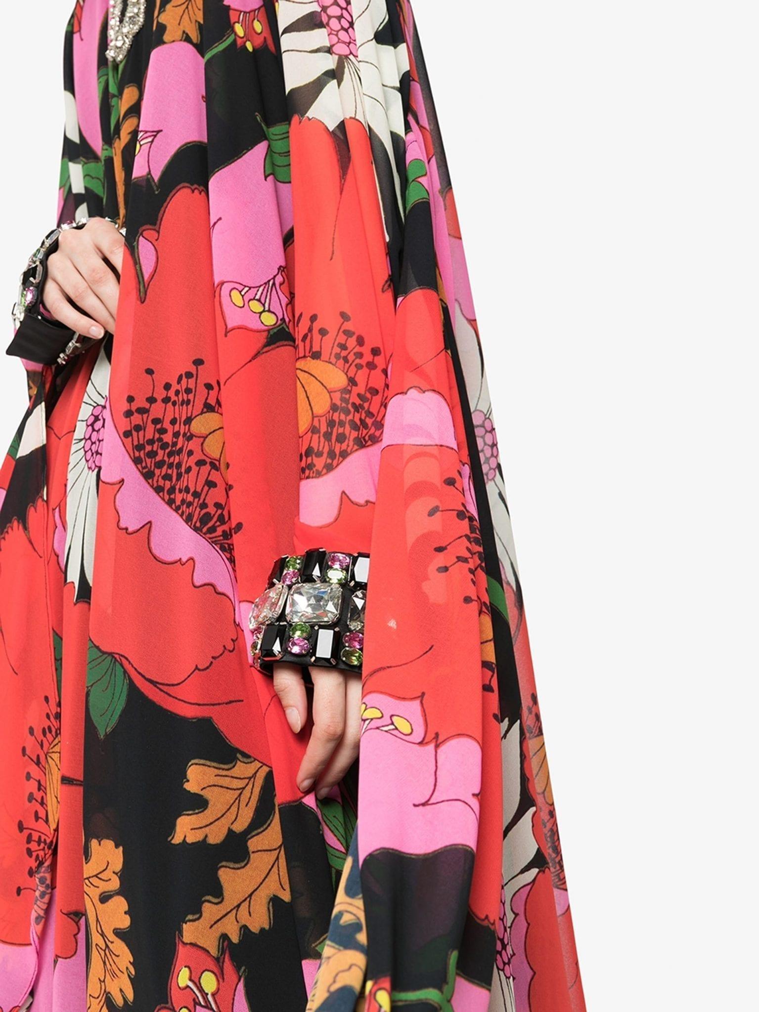 RICHARD QUINN Crystal Floral Maxi Dress