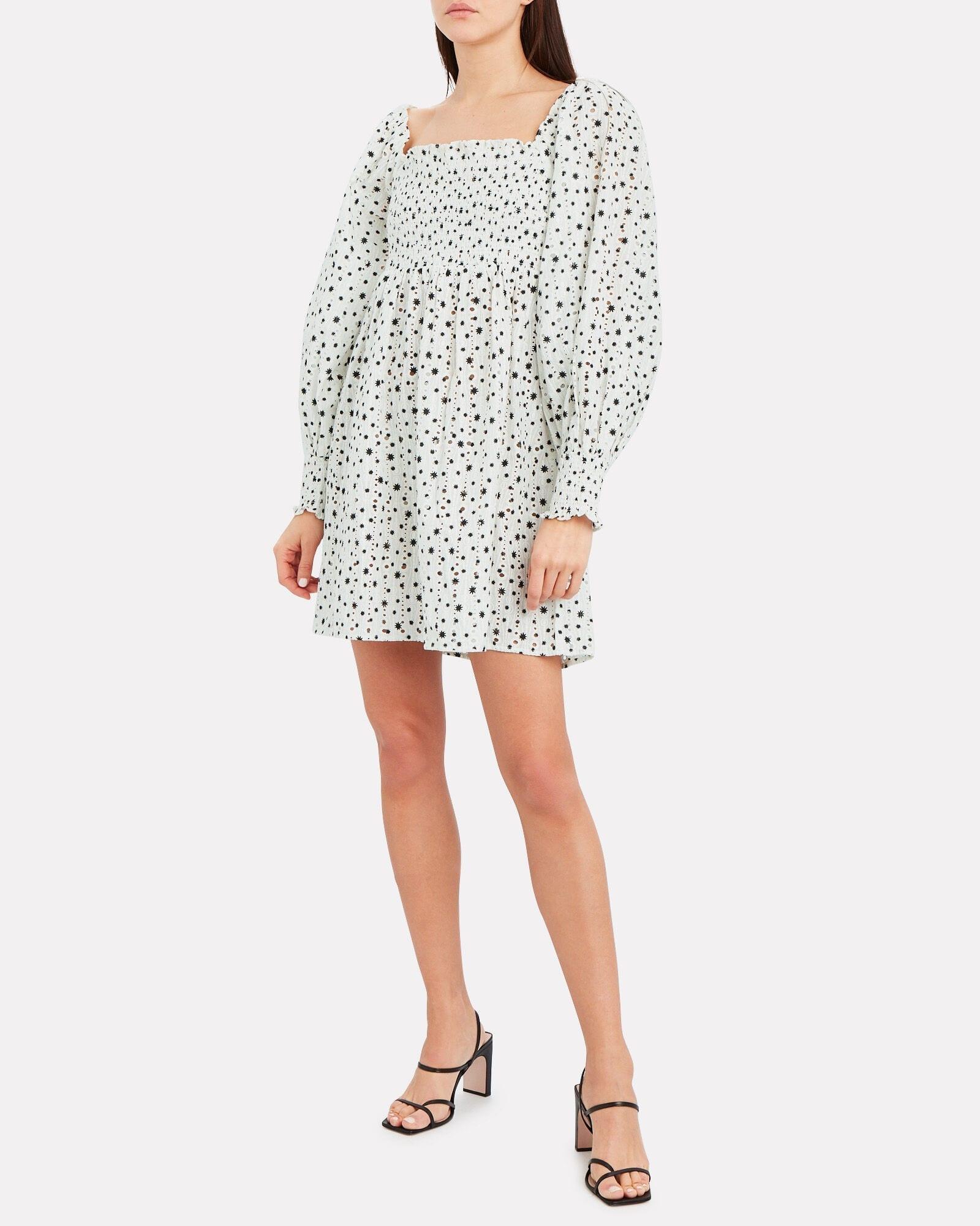 RIXO Bethany Eyelet Mini Dress