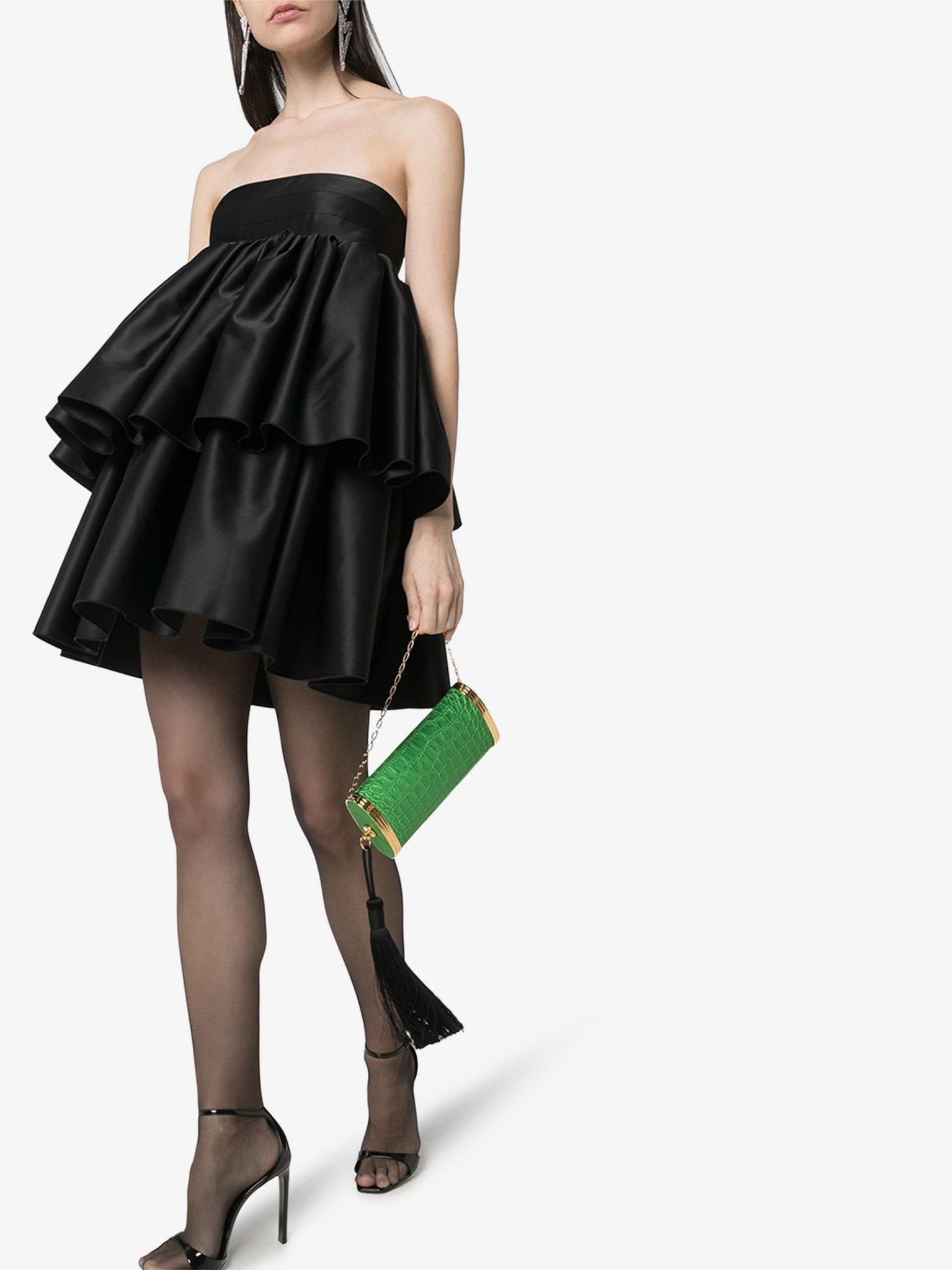 ROTATE Carmina Strapless Layered Dress