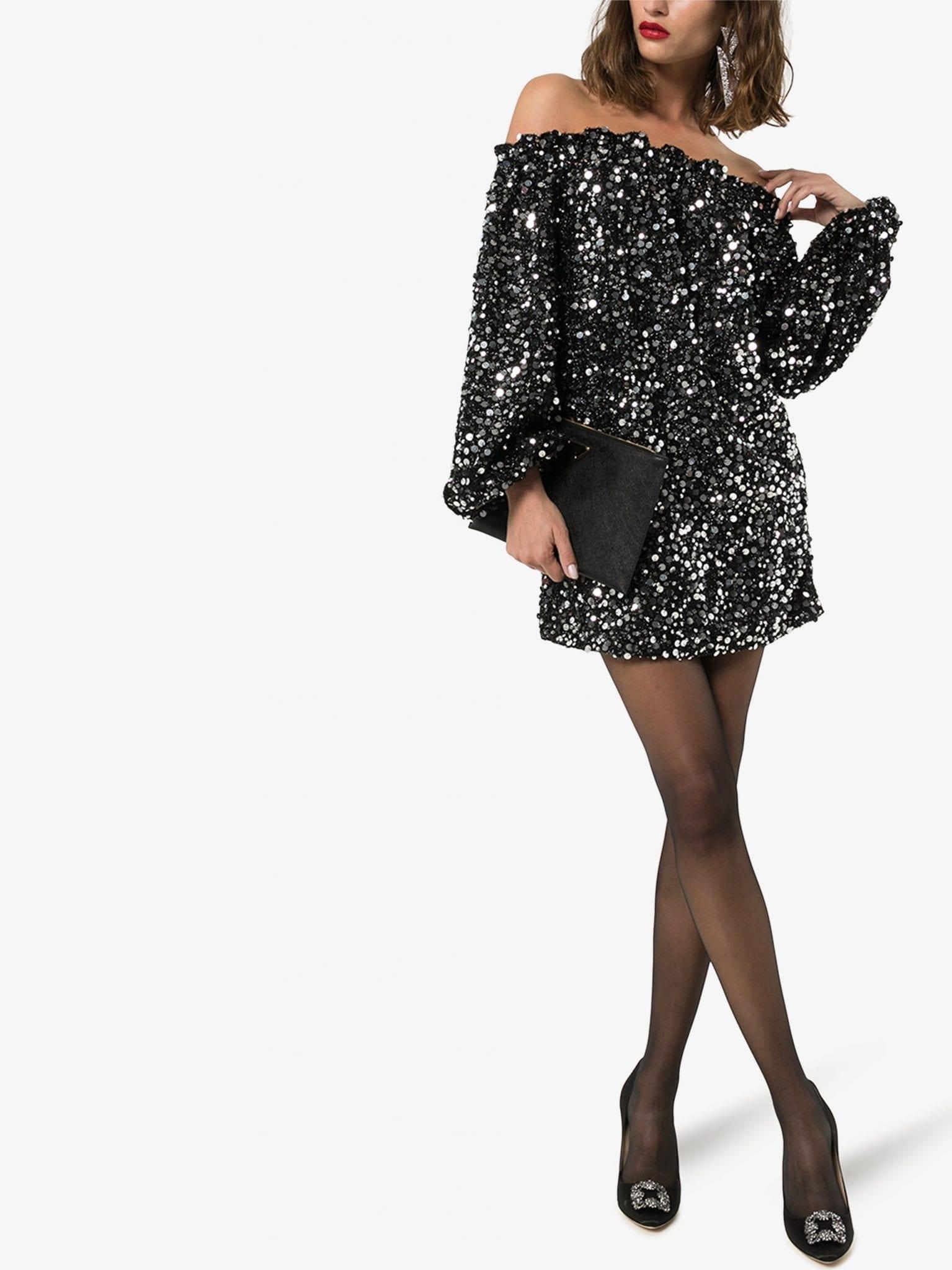 ROTATE Gloria Sequin Mini Dress