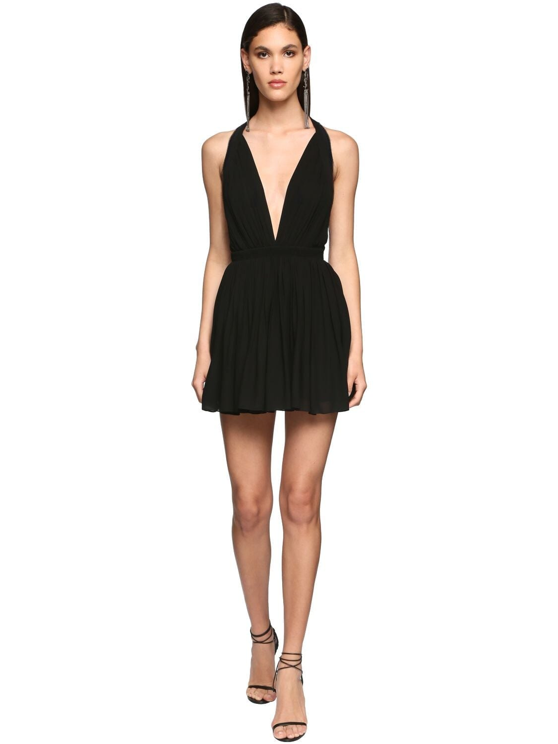 SAINT LAURENT Viscose Crepe Mini Dress