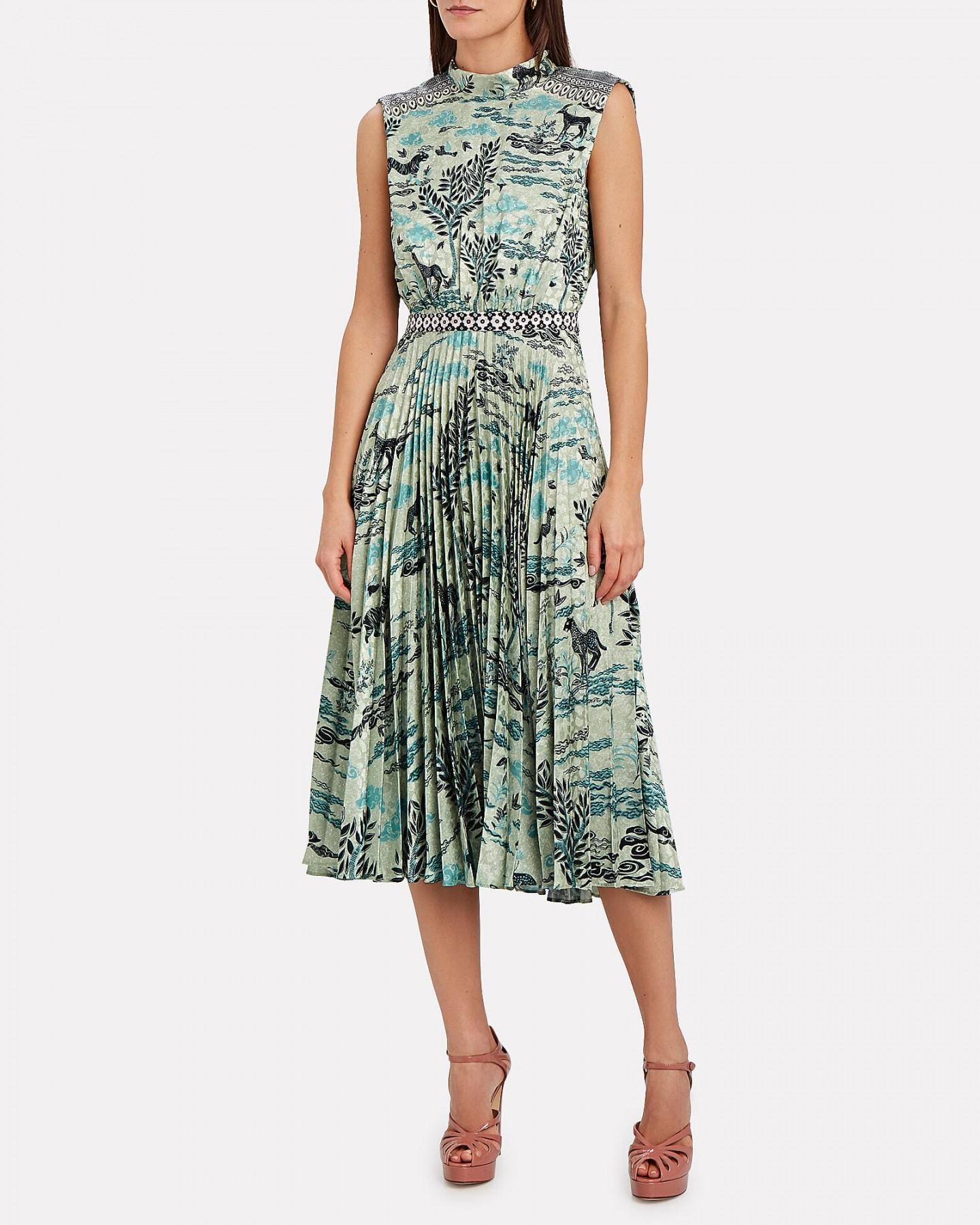 SALONI Fleur Sparkle Safari Midi Dress