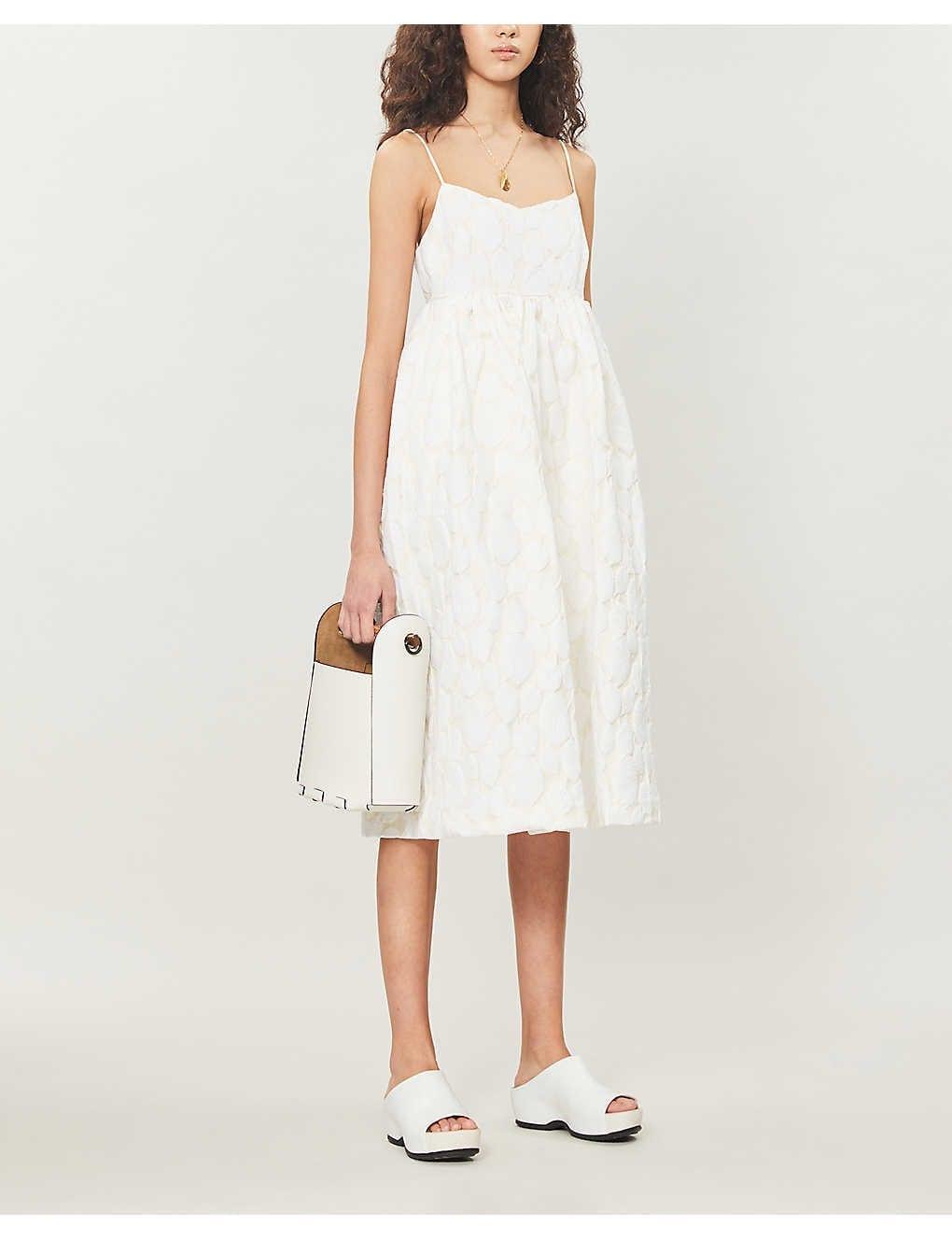 SAMSOE & SAMSOE Grant Jacquard-woven Midi Dress