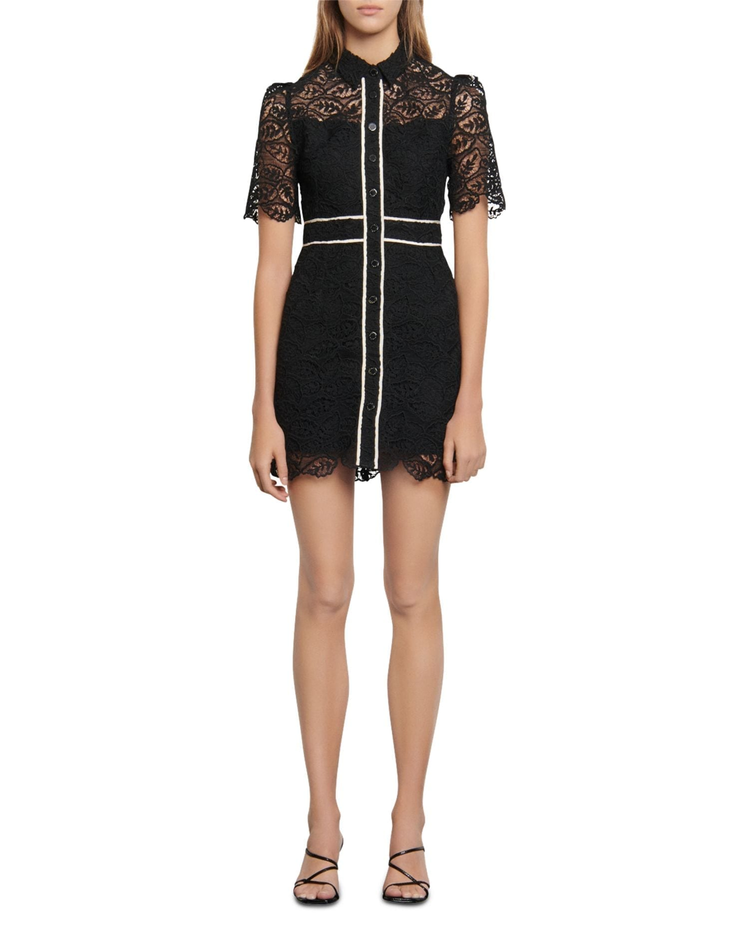 SANDRO Livy Lace Mini Dress