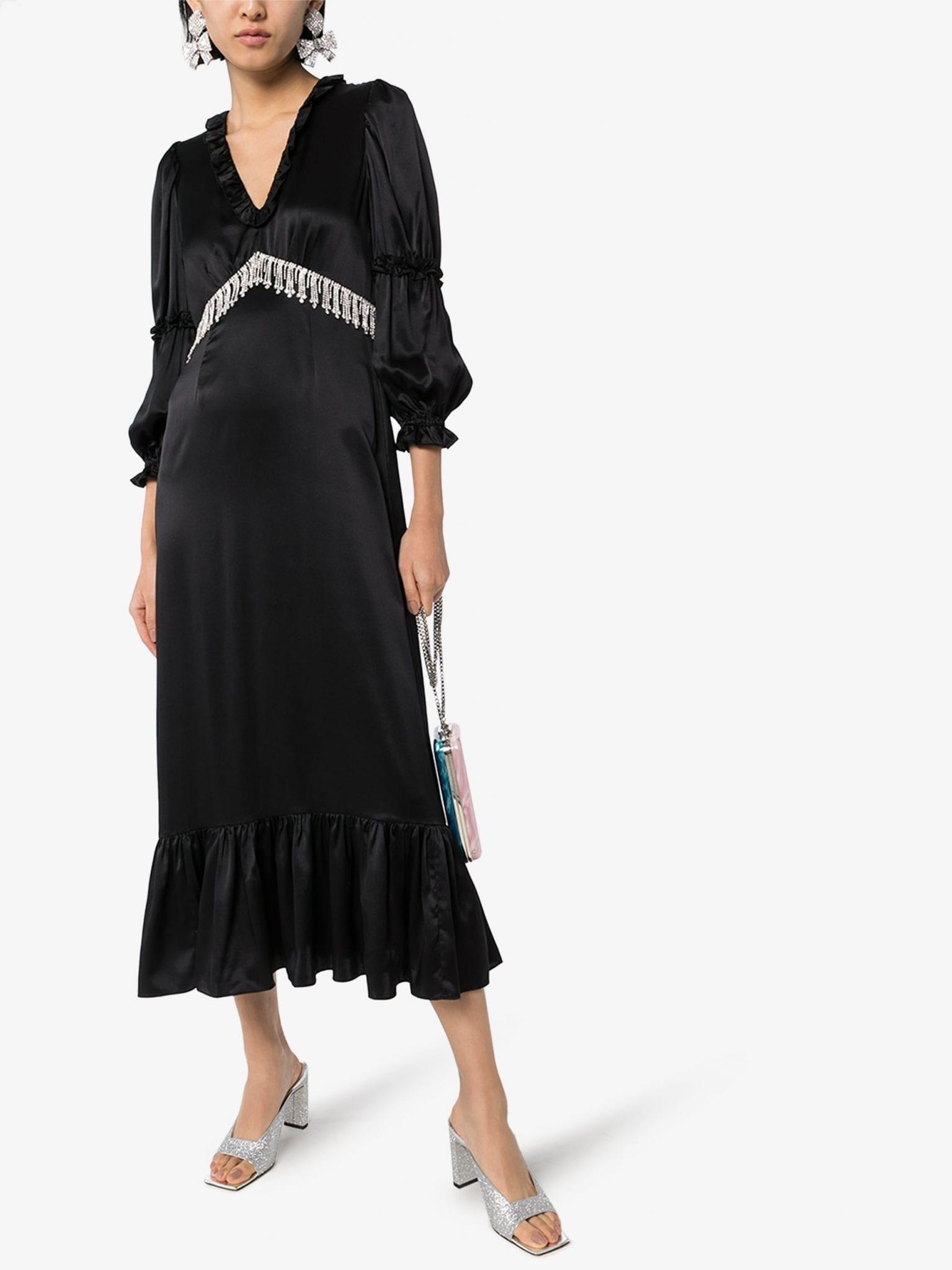SHRIMPS Rosemary Silk Midi Dress