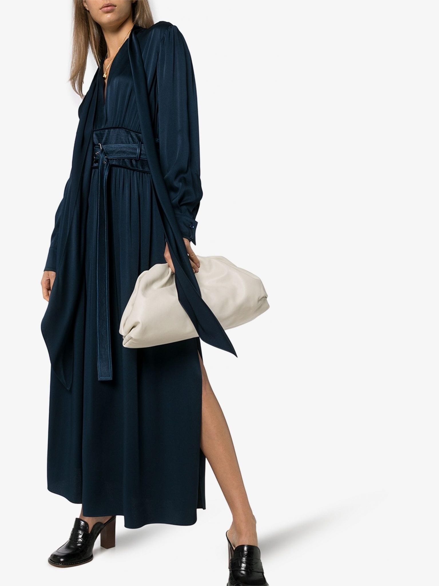 SHUTING QIU Floral Print Scarf Sleeve Mini Dress