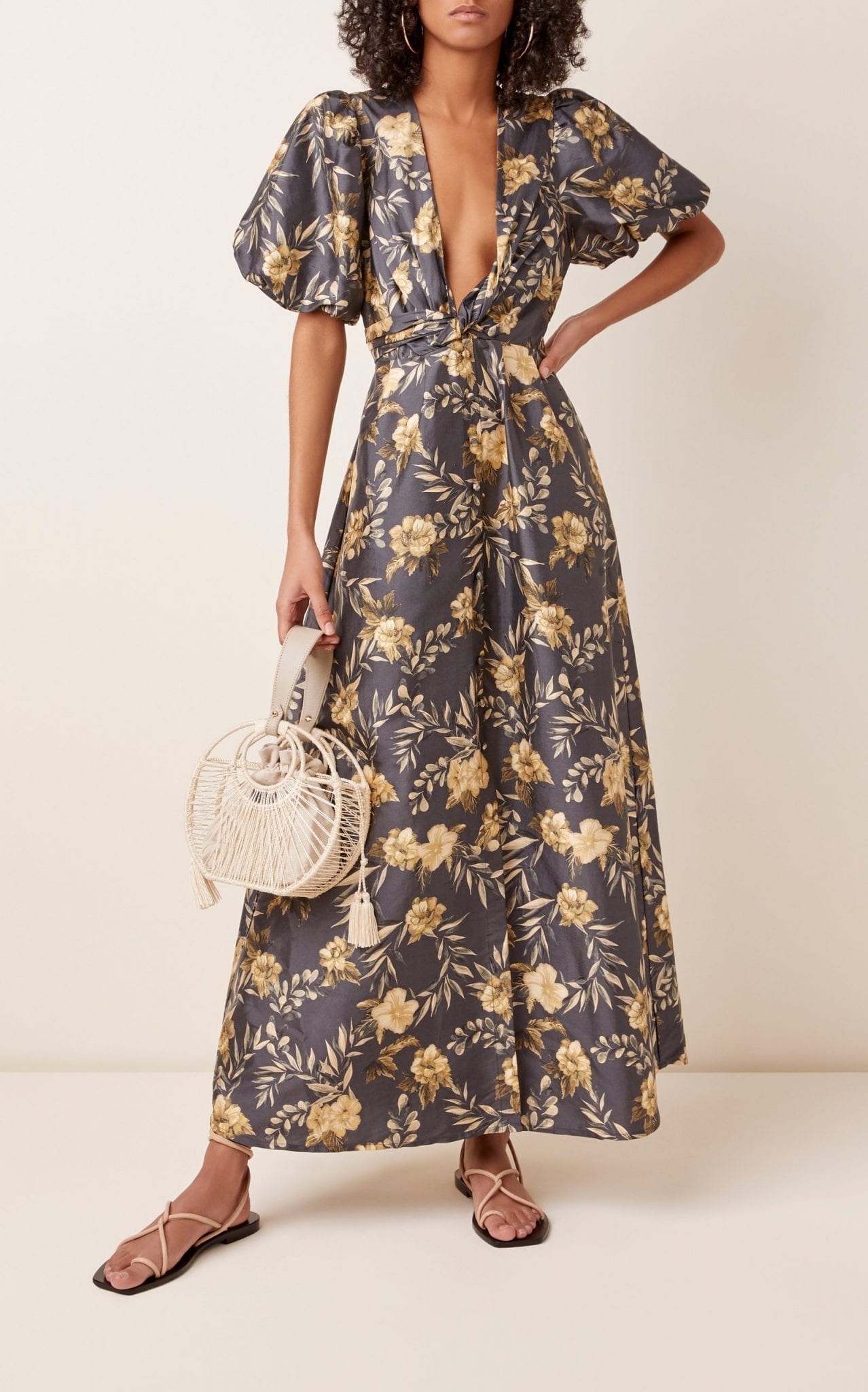 SIR THE LABEL Carmen Floral-Print Silk Maxi Dress