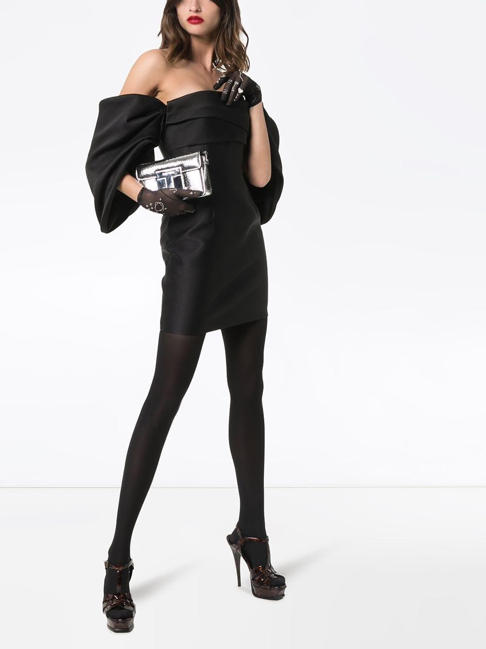 SOLACE LONDON Elina Off-the-shoulder Mini Dress