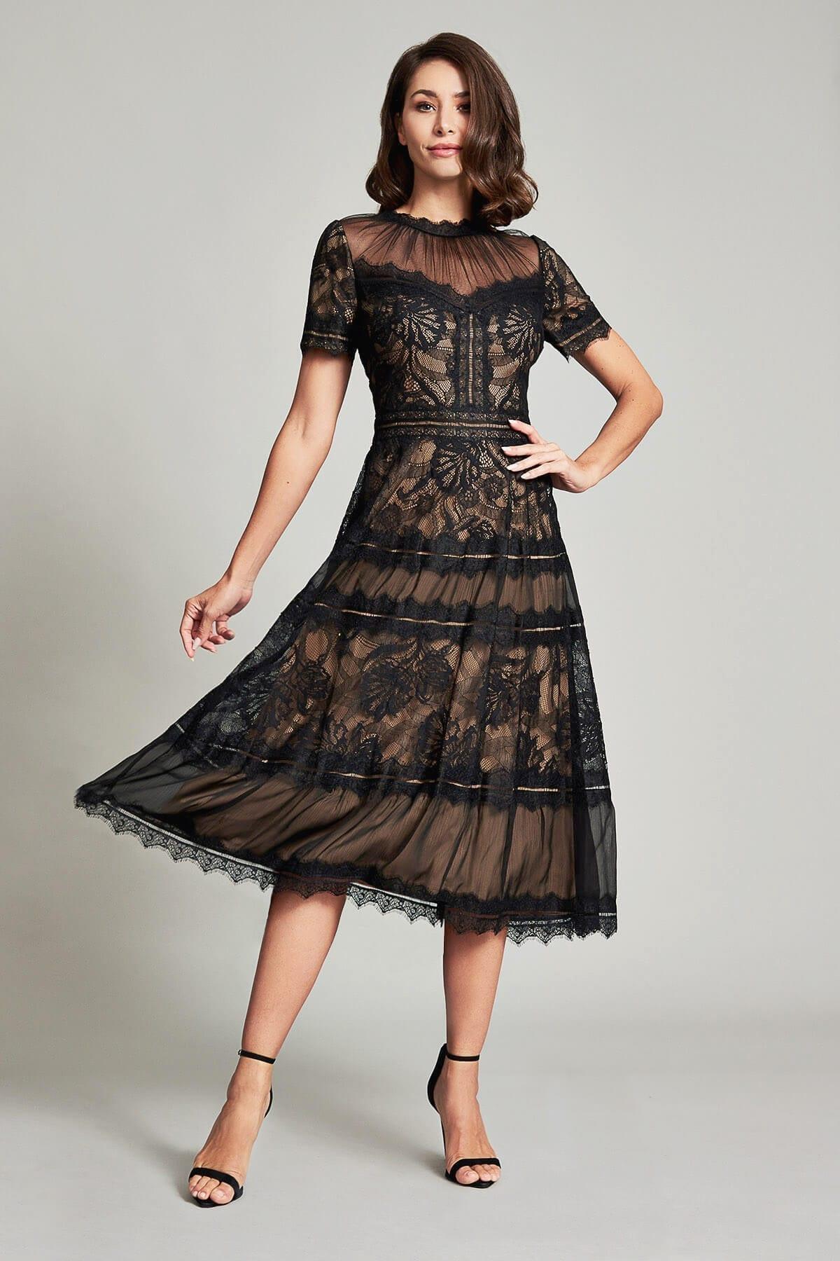 TADASHI SHOJI Camilla Tea-length Dress