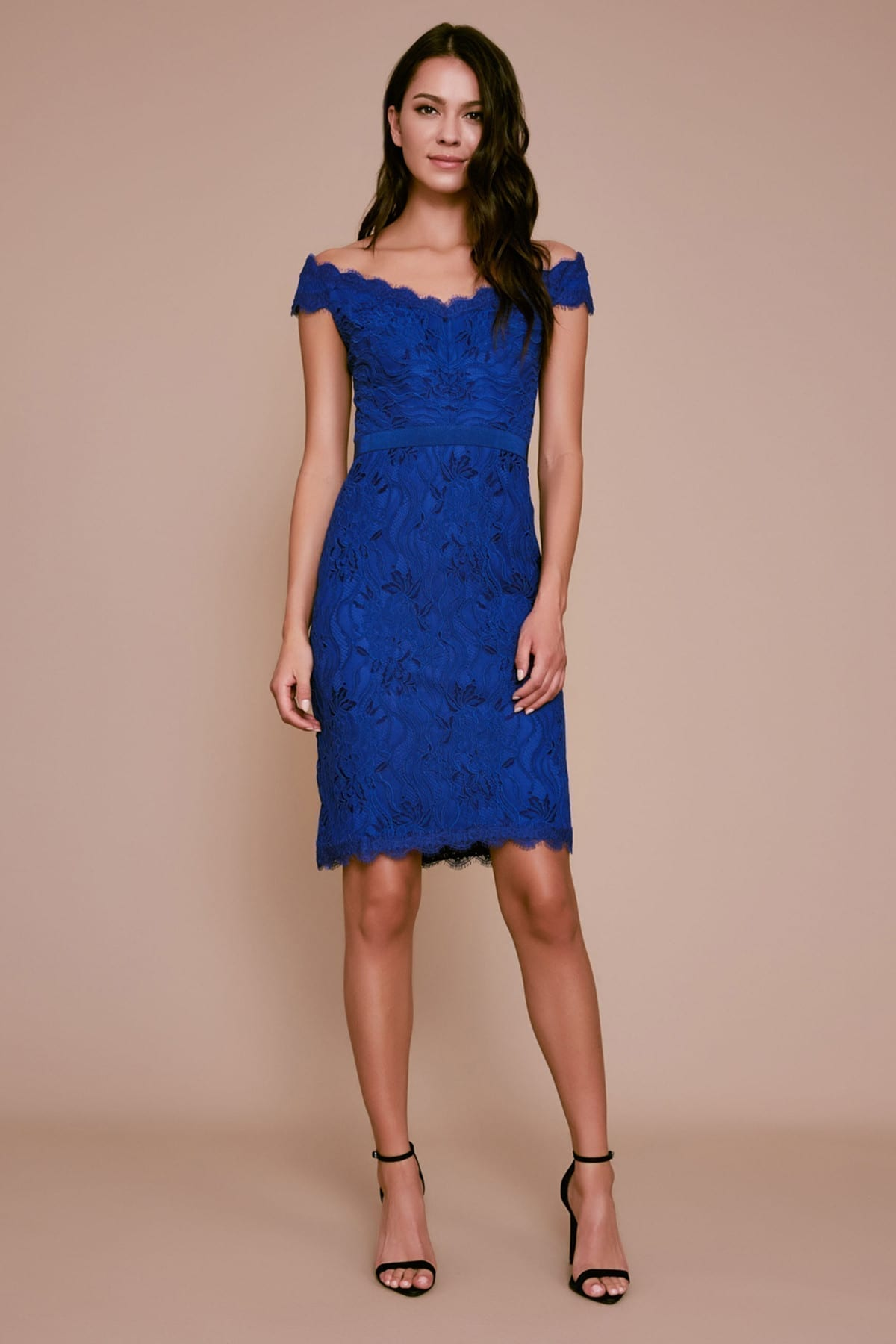 TADASHI SHOJI Darcy Off-the-shoulder Lace Dress