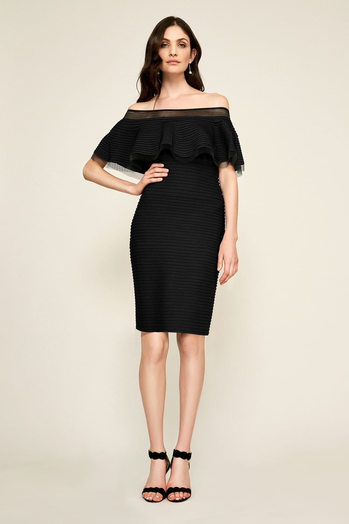 TADASHI SHOJI Tabora Off-the-shoulder Dress