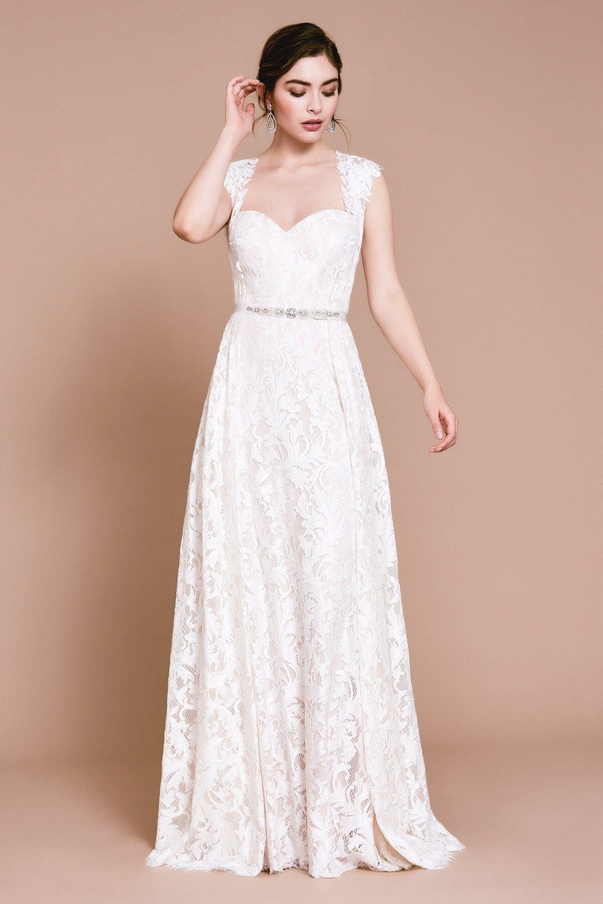 TADASHI SHOJI Zula Detachable Sweetheart Skirt Dress