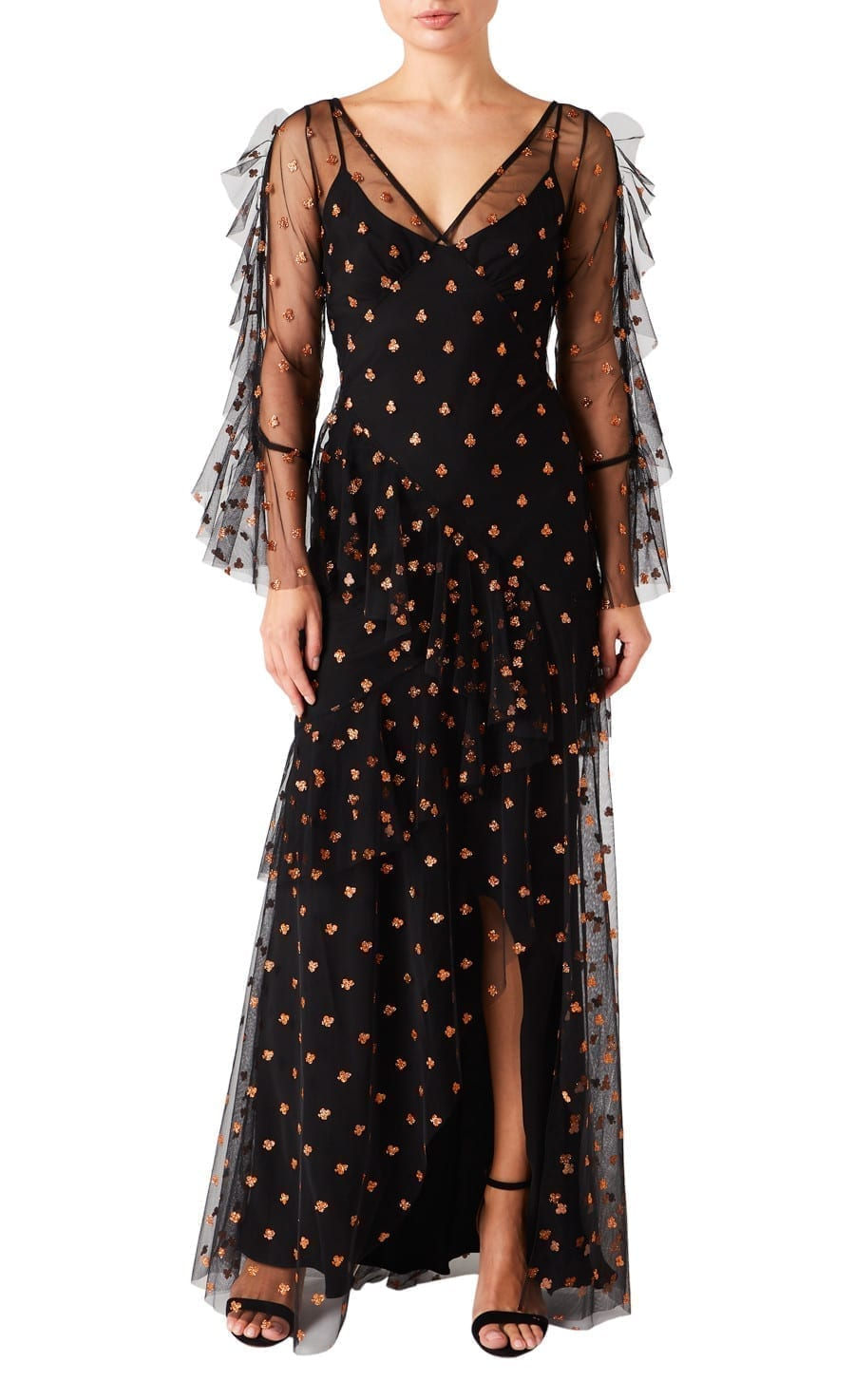 TEMPERLEY Fortuna Ruffle Dress