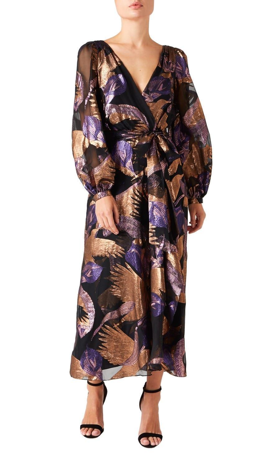 TEMPERLEY Kitty Filcoupe Wrap Dress