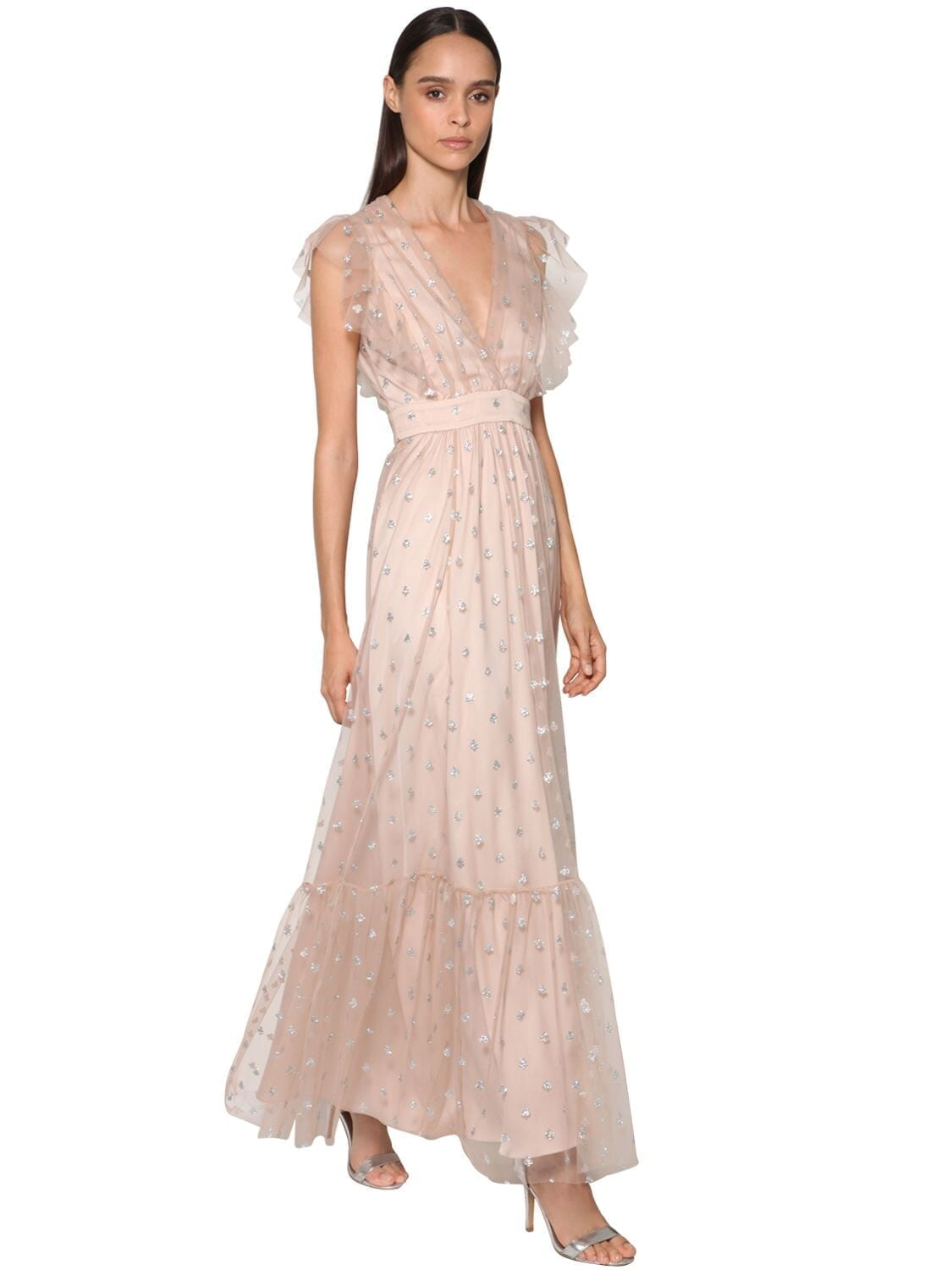 TEMPERLEY LONDON Sheer Tulle Long Dress