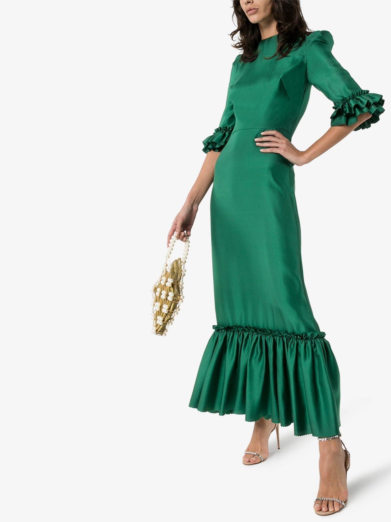 THE VAMPIRE'S WIFE Festival Silk Maxi Dress