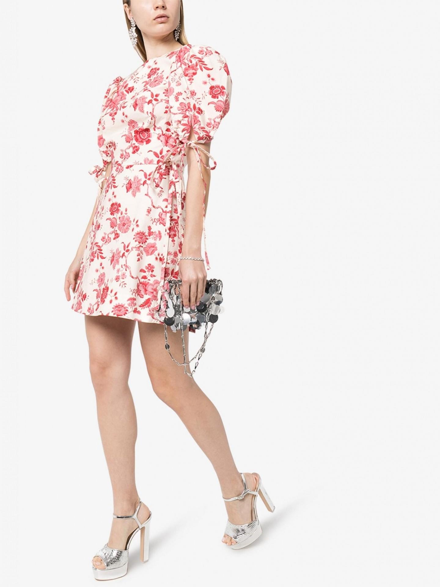 THE VAMPIRE'S WIFE The Wrapsody Floral Print Cotton Mini Dress
