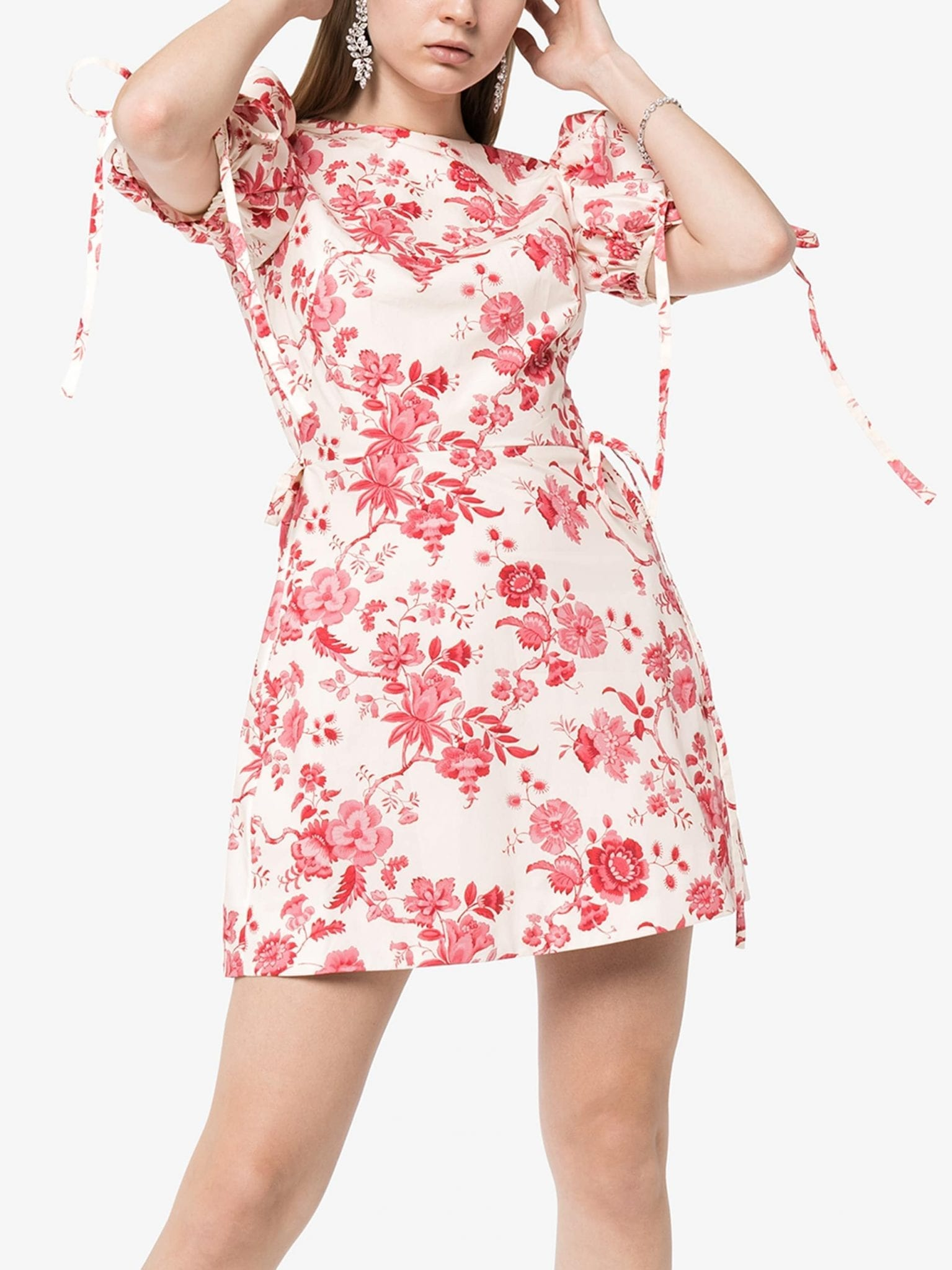 THE VAMPIRE'S WIFE The Wrapsody Floral Print Cotton Mini Dress
